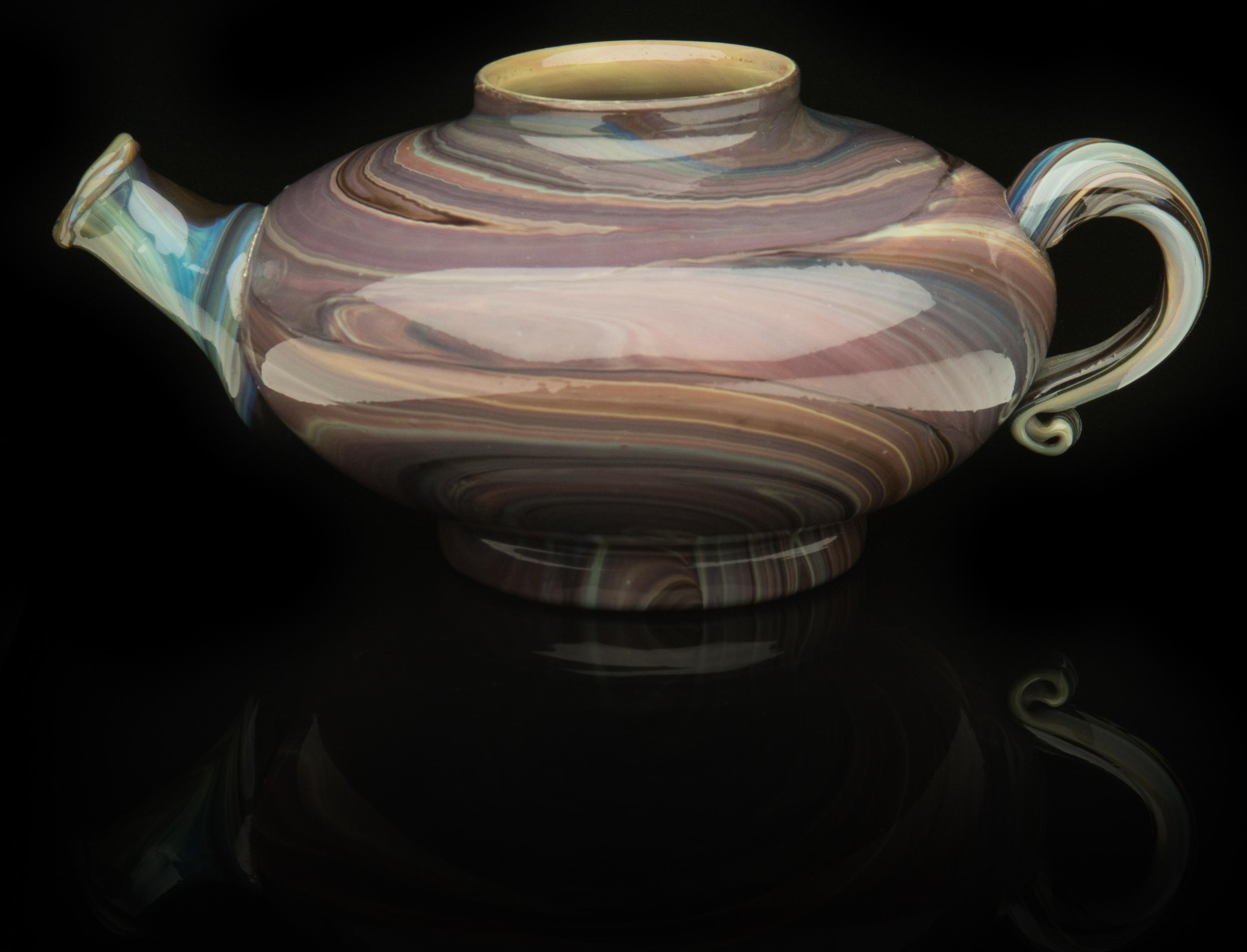 Salviati and Company,  Chalcedony Teapot (circa 1870, glass, 4 1/2 x 8inches), VV.575
