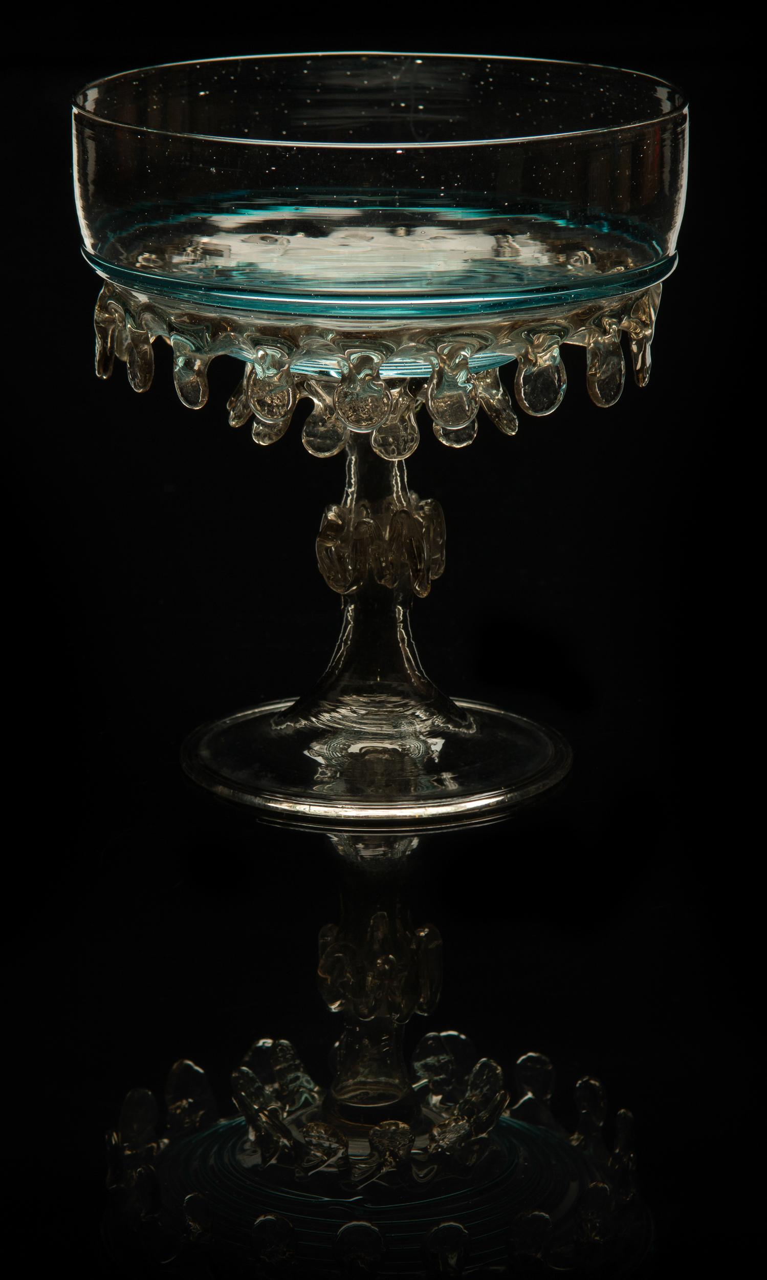 Salviati and Company, Teardrop Compote (circa 1885, glass, 5 1/2 x 5 x 5inches), VV.578