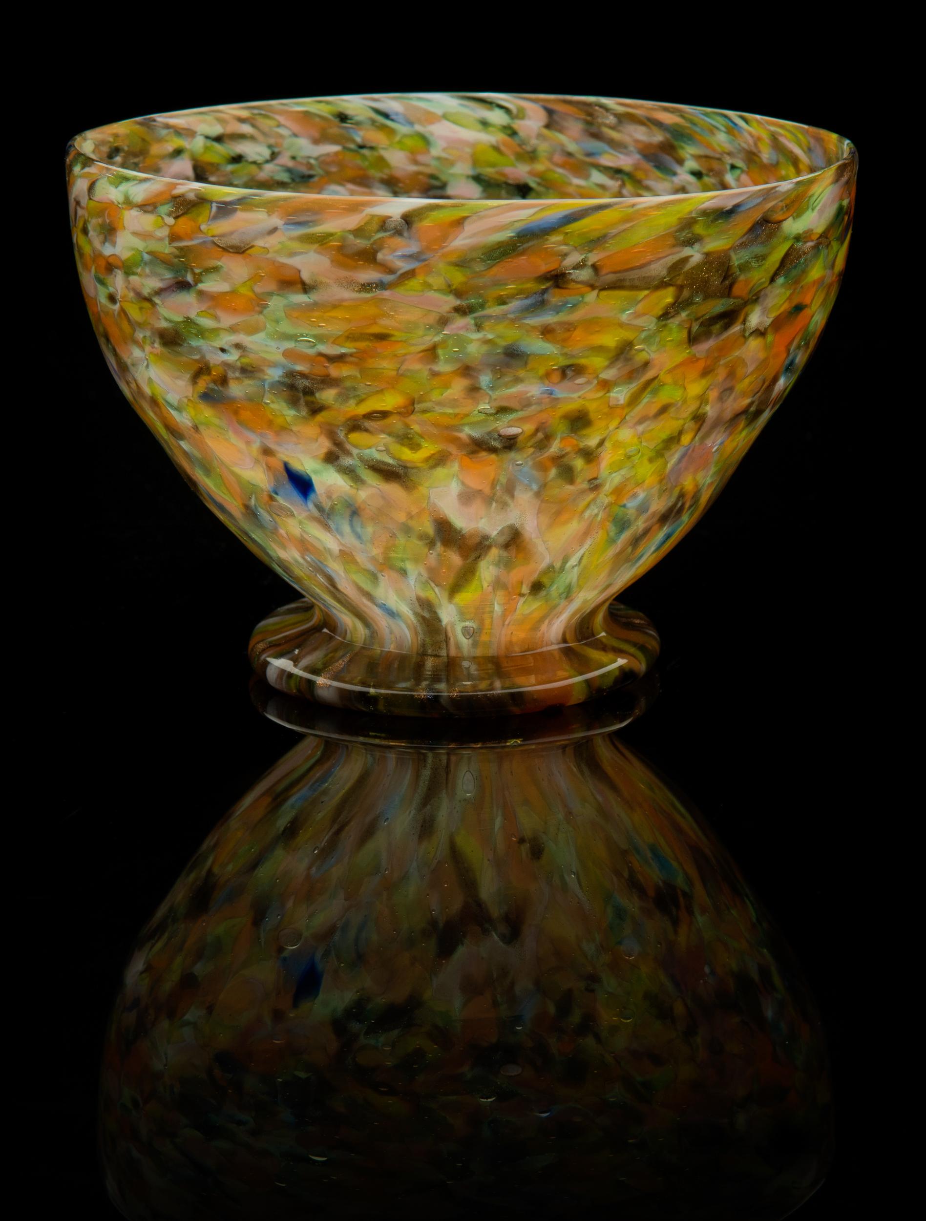 Pietro Bigaglia, Screziato Bowl (1860, glass, 3 5/8 x 5 5/16 x 5 5/16 inches), VV.553