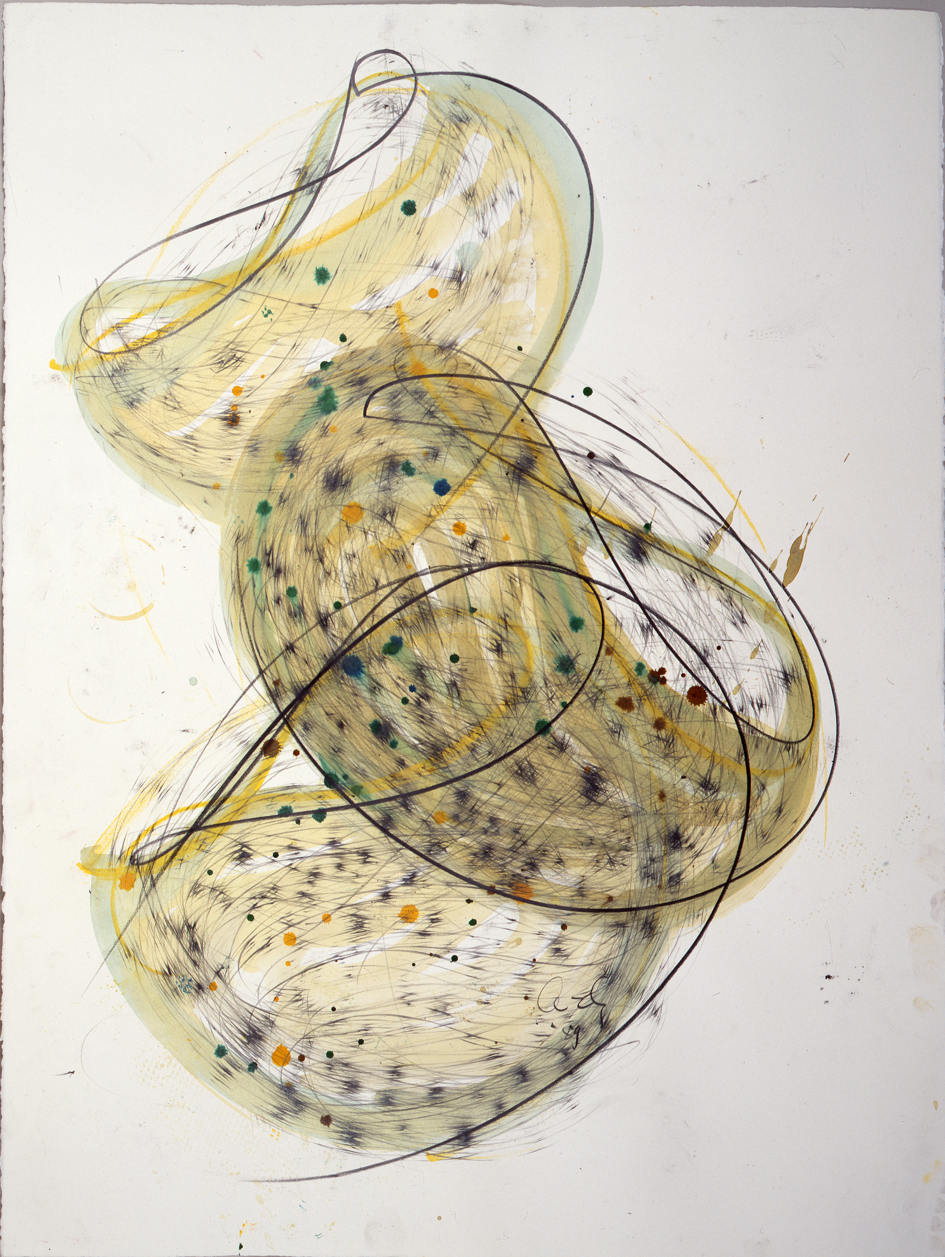 Dale Chihuly, Macchia Drawing #31, (1989, graphite, charcoal, and watercolor on paper, 30 x 22 inches), DC.86