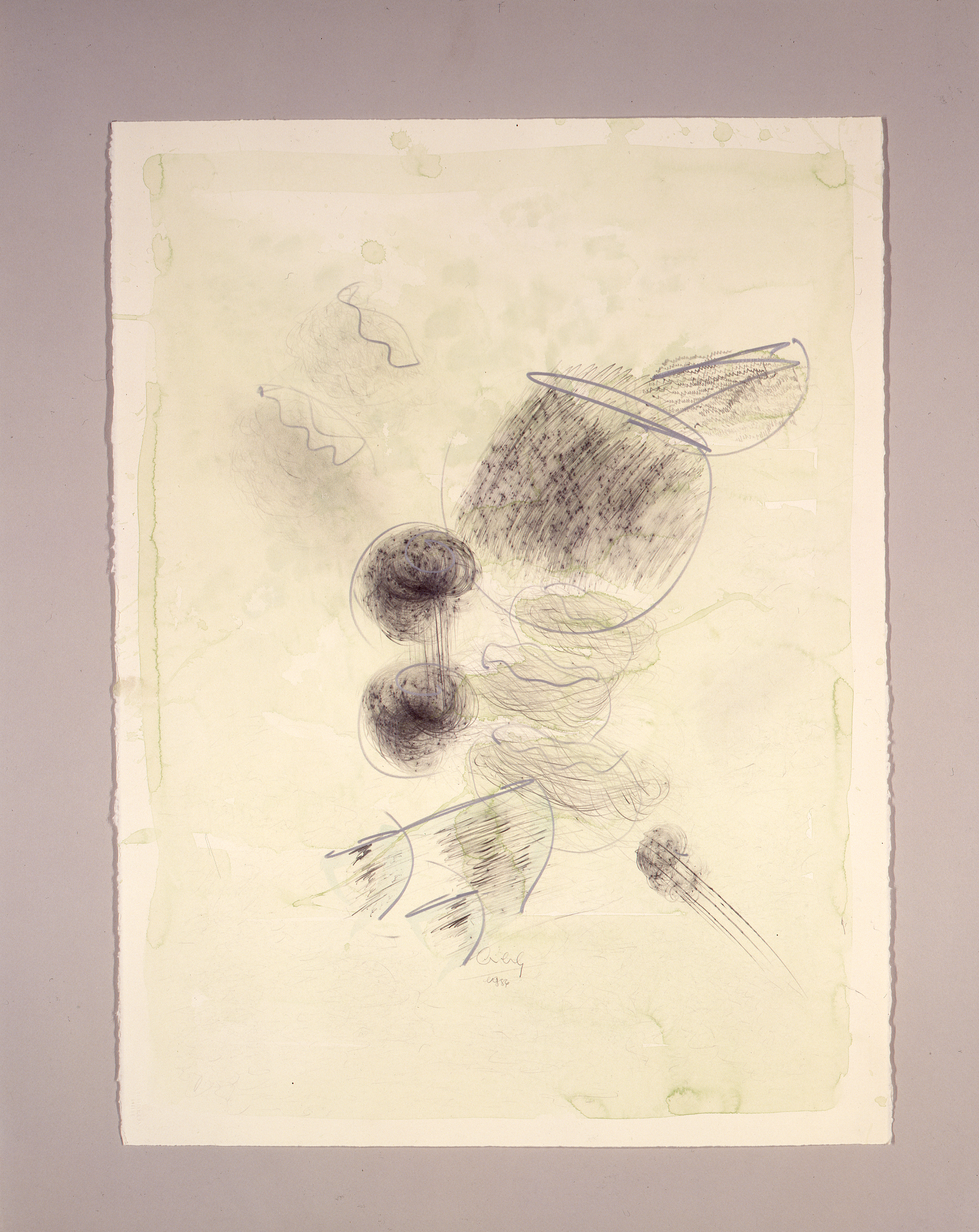 Dale Chihuly, Macchia Drawing #27, (1982, graphite and watercolor on paper, 30 x 22 inches), DC.85