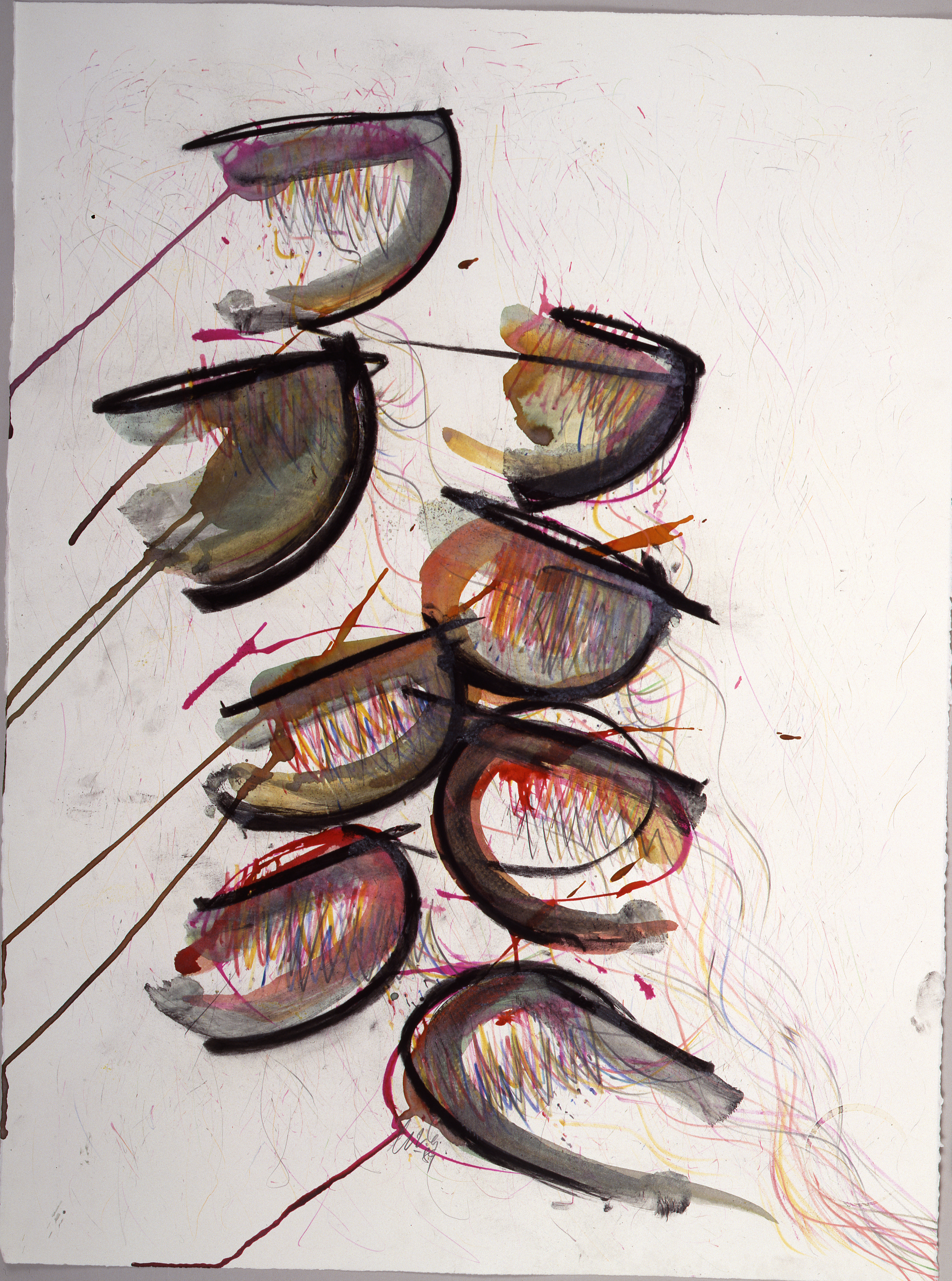 Dale Chihuly,  Macchia Drawing #19,  (1982, mixed media on paper, 30 x 22 inches), DC.87