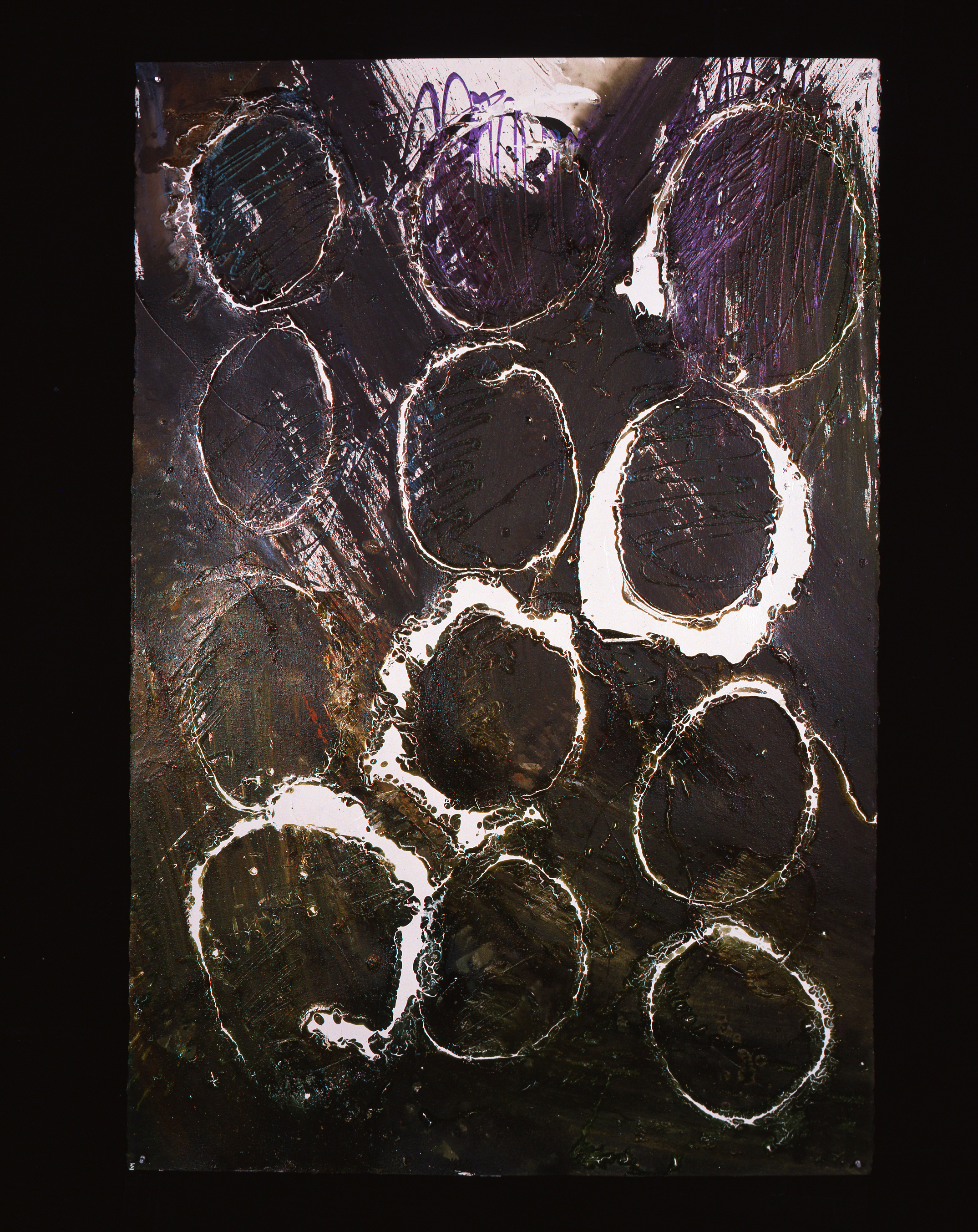 Dale Chihuly, Macchia Drawing #17, (1992, acrylicon paper, 60 x 40 inches), DC.92