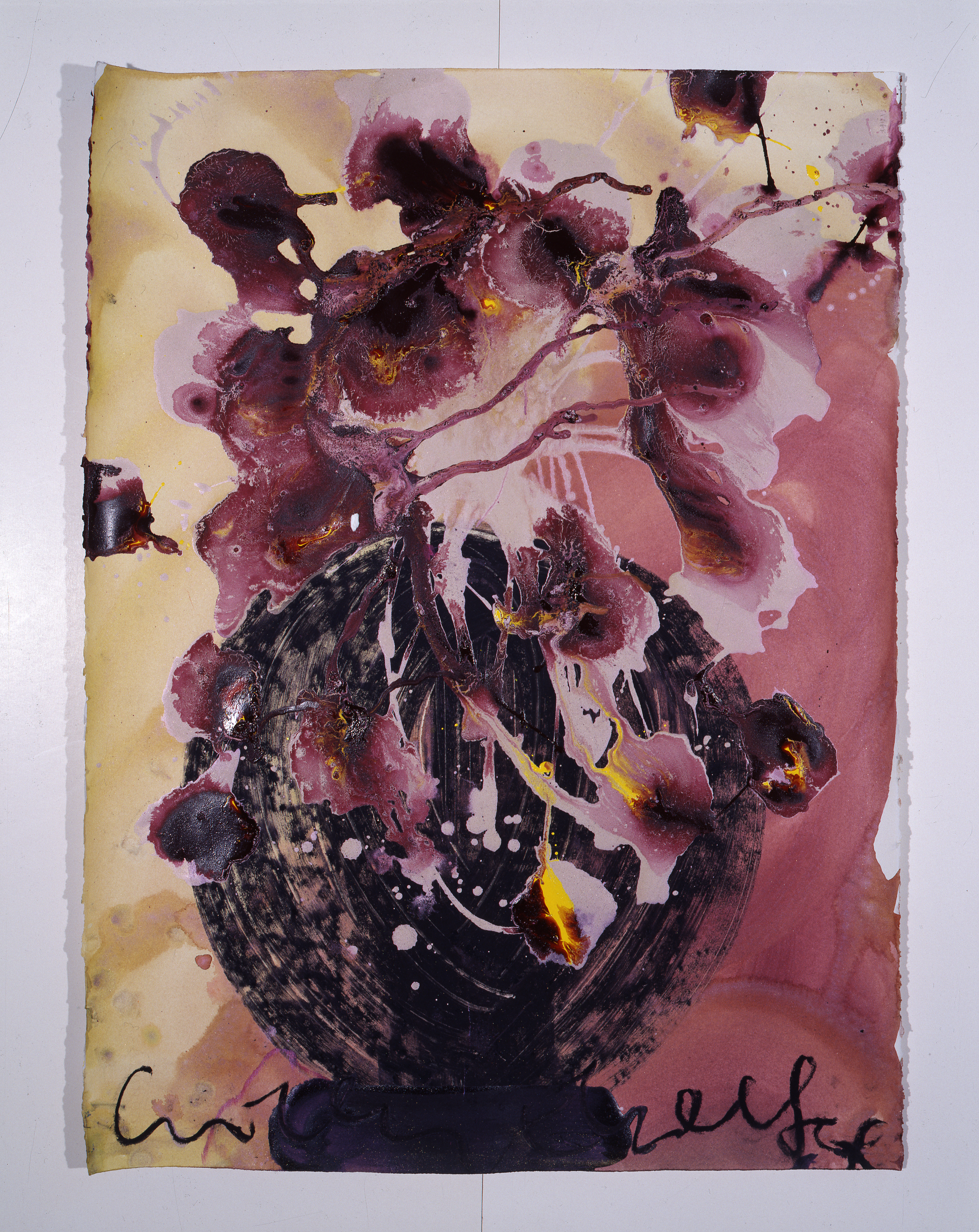 Dale Chihuly, Ebeltoft Drawing, (1991, mixed media on paper, 30 x 22 inches), DC.344