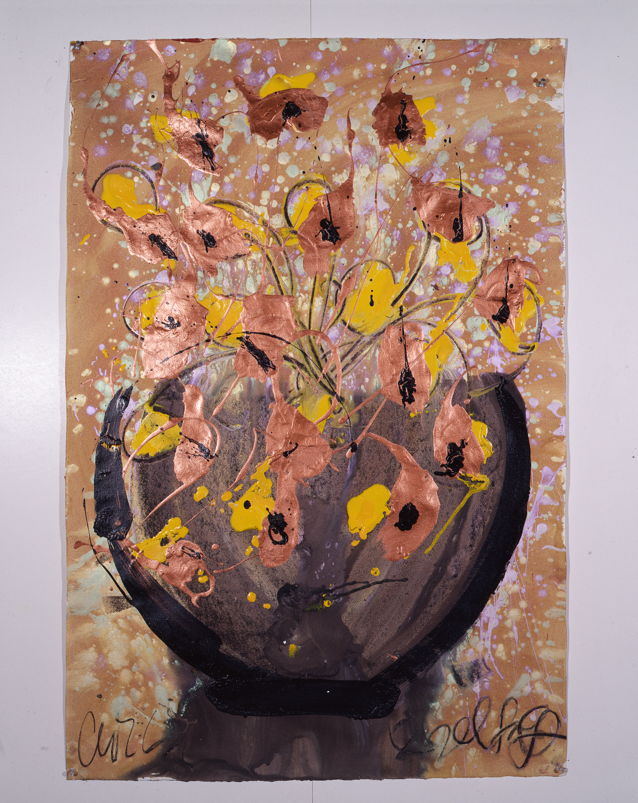 Dale Chihuly, Ebeltoft Drawing, (1991, mixed media on paper, 45 x 30 inches), DC.348