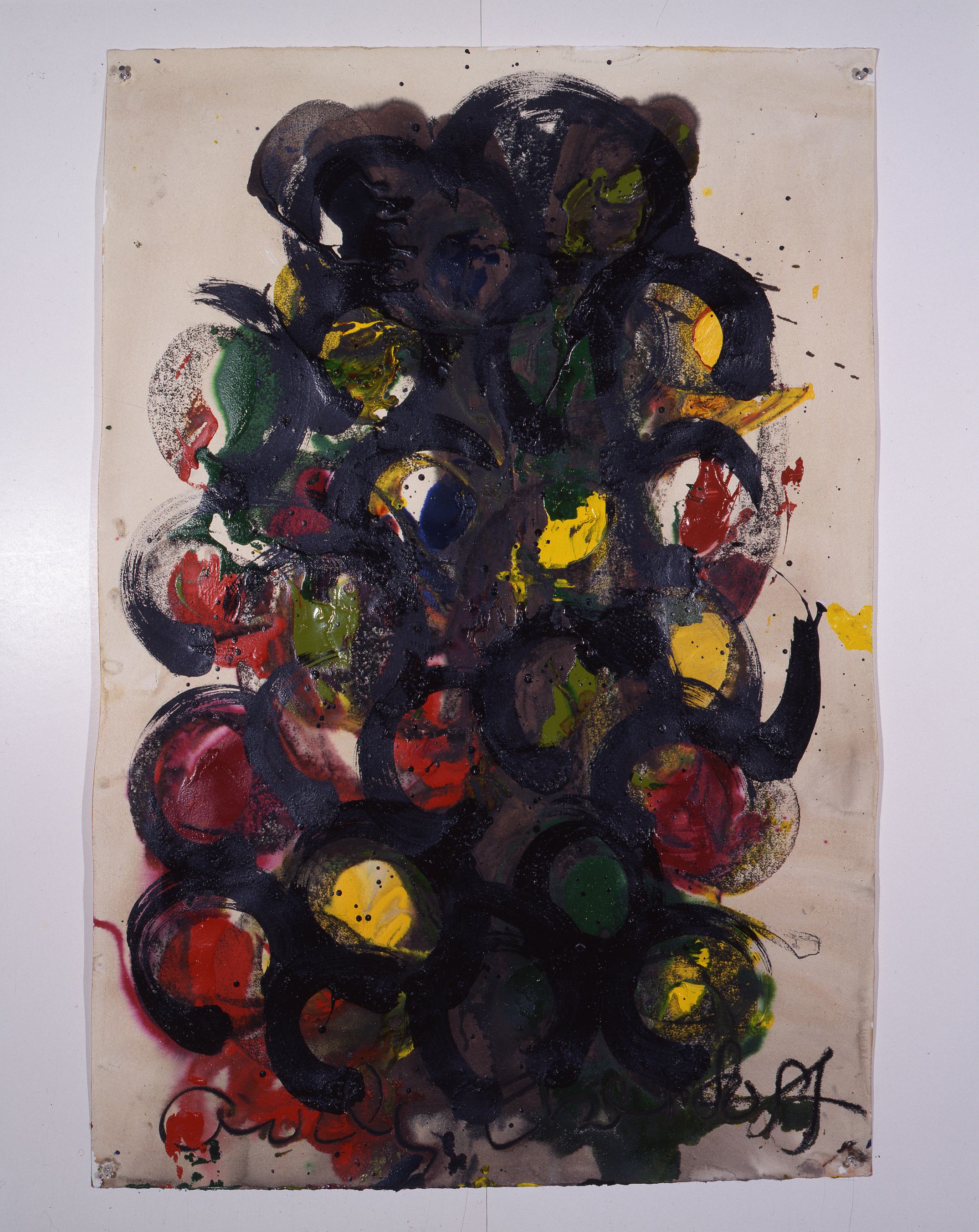 Dale Chihuly,  Ebeltoft Drawing,  (1991, mixed media on paper, 45 x 30 inches), DC.354