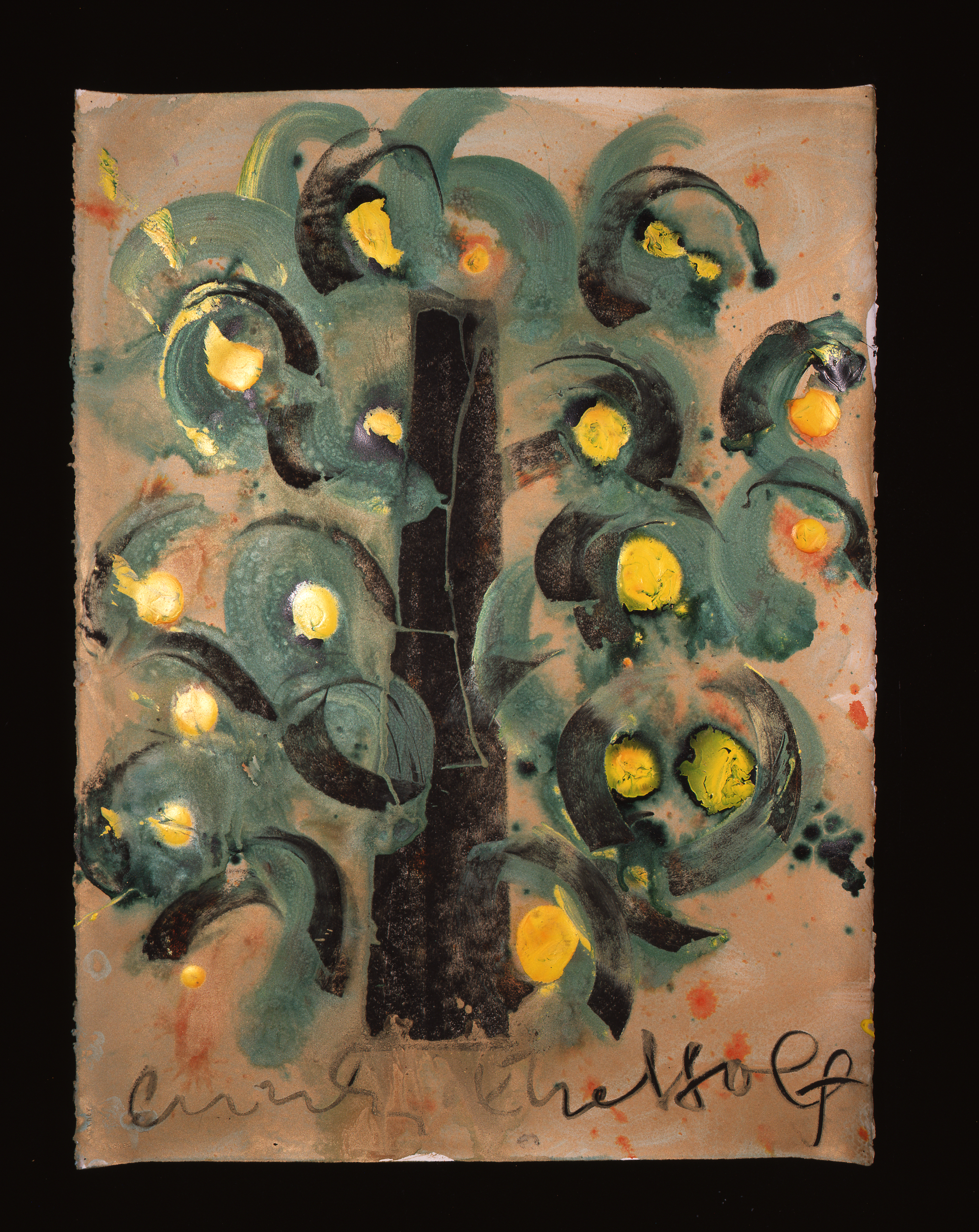Dale Chihuly, Ebeltoft Drawing, (1991, mixed media on paper, 30 x 22 inches), DC.355