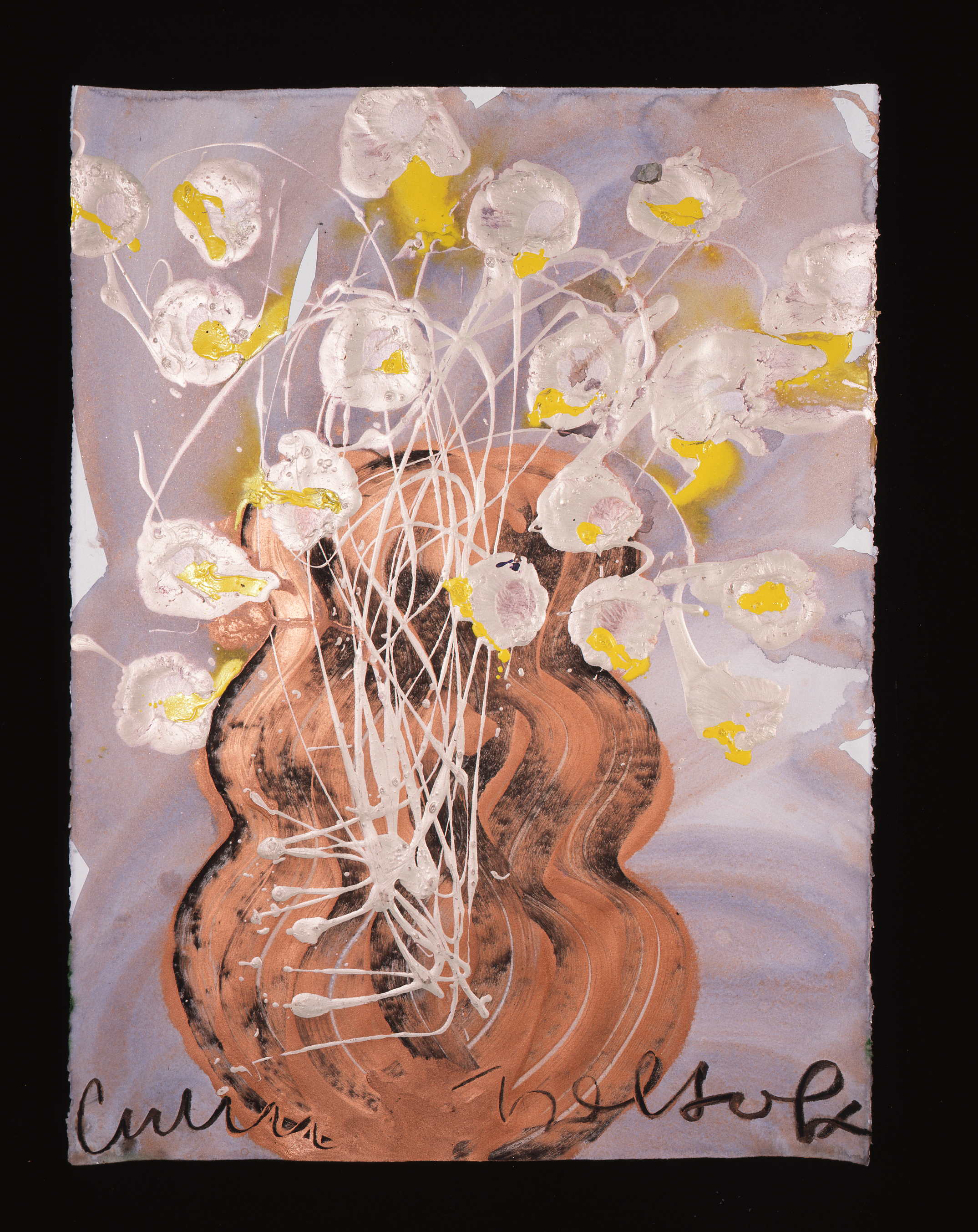 Dale Chihuly, Ebeltoft Drawing, (1991, mixed media on paper, 30 x 22 inches), DC.356