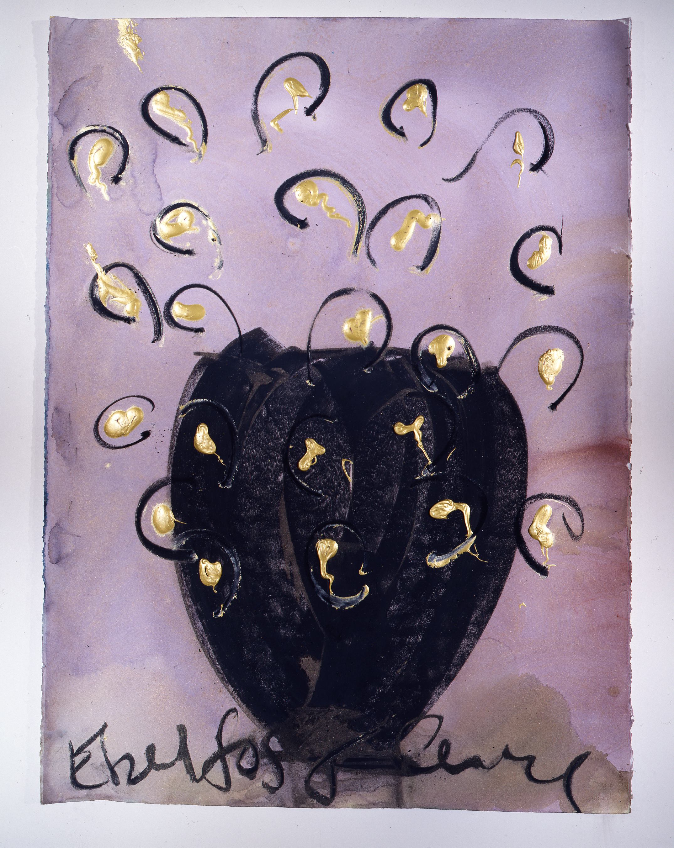 Dale Chihuly, Ebeltoft Drawing, (1991, mixed media on paper, 30 x 22 inches), DC.360