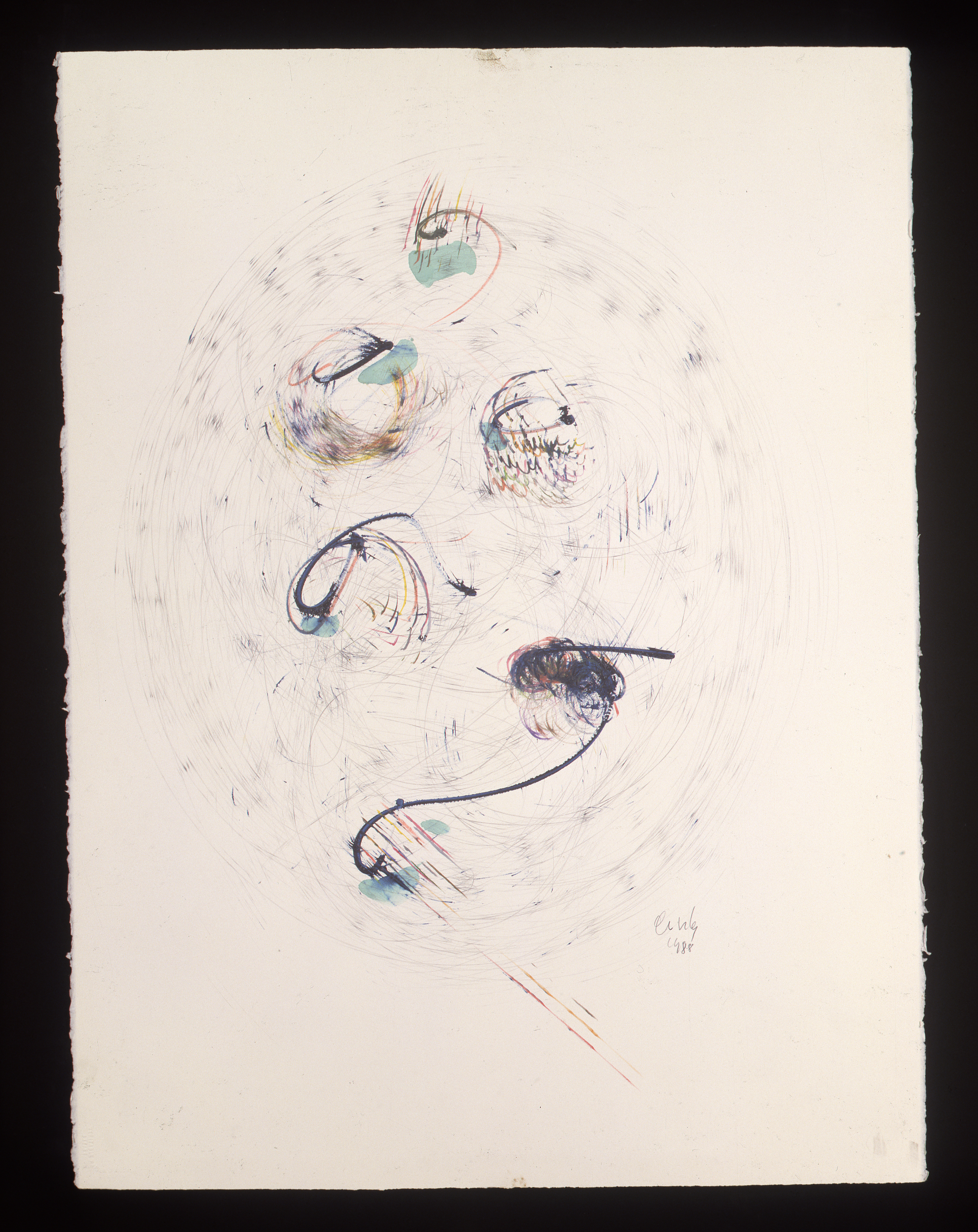 Dale Chihuly, Basket Drawing, (1988, mixed media on paper, 30 x 22 inches), DC.362