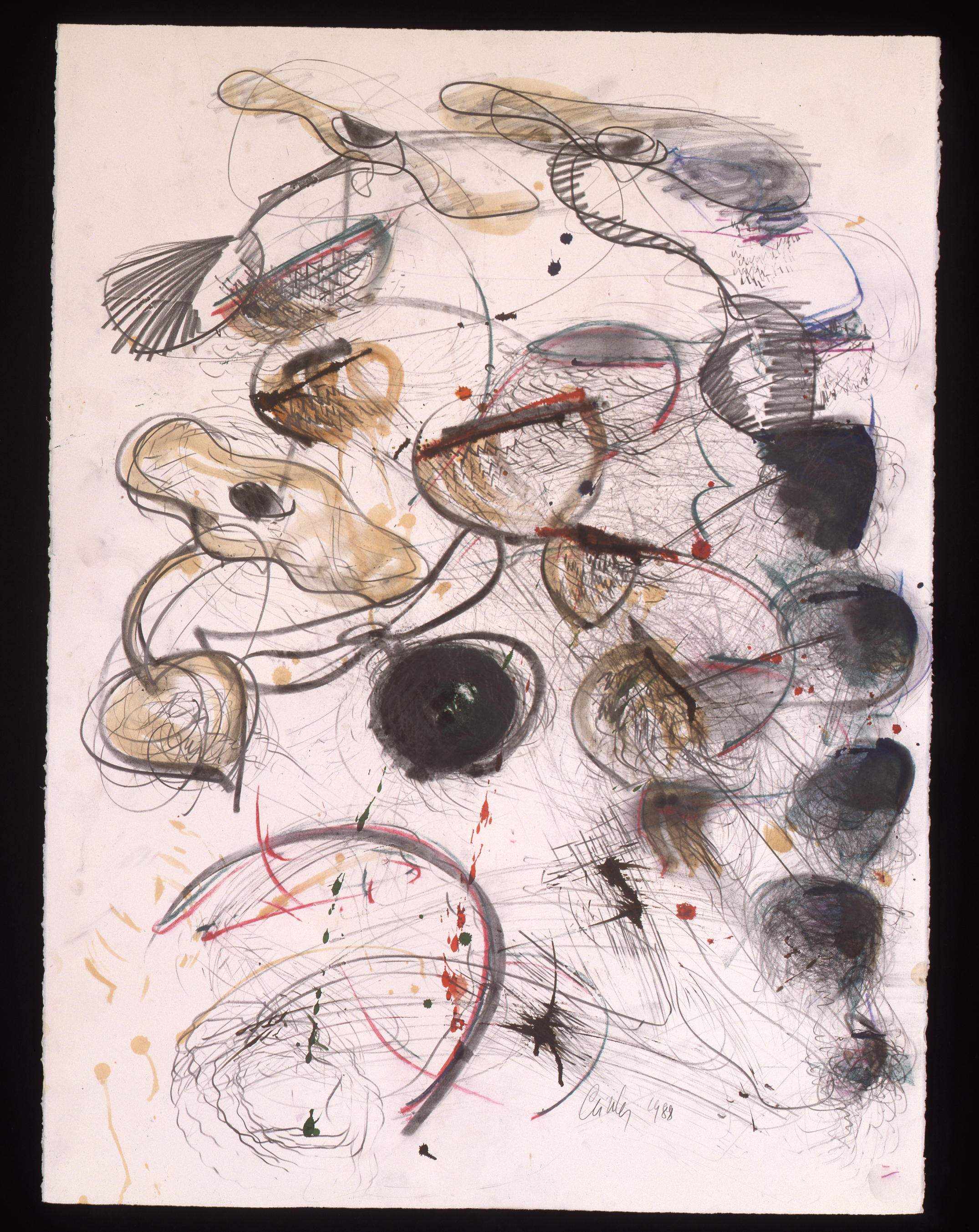 Dale Chihuly,  Persian Drawing  , (1988, mixed media on paper, 30 x 22 inches), DC.363