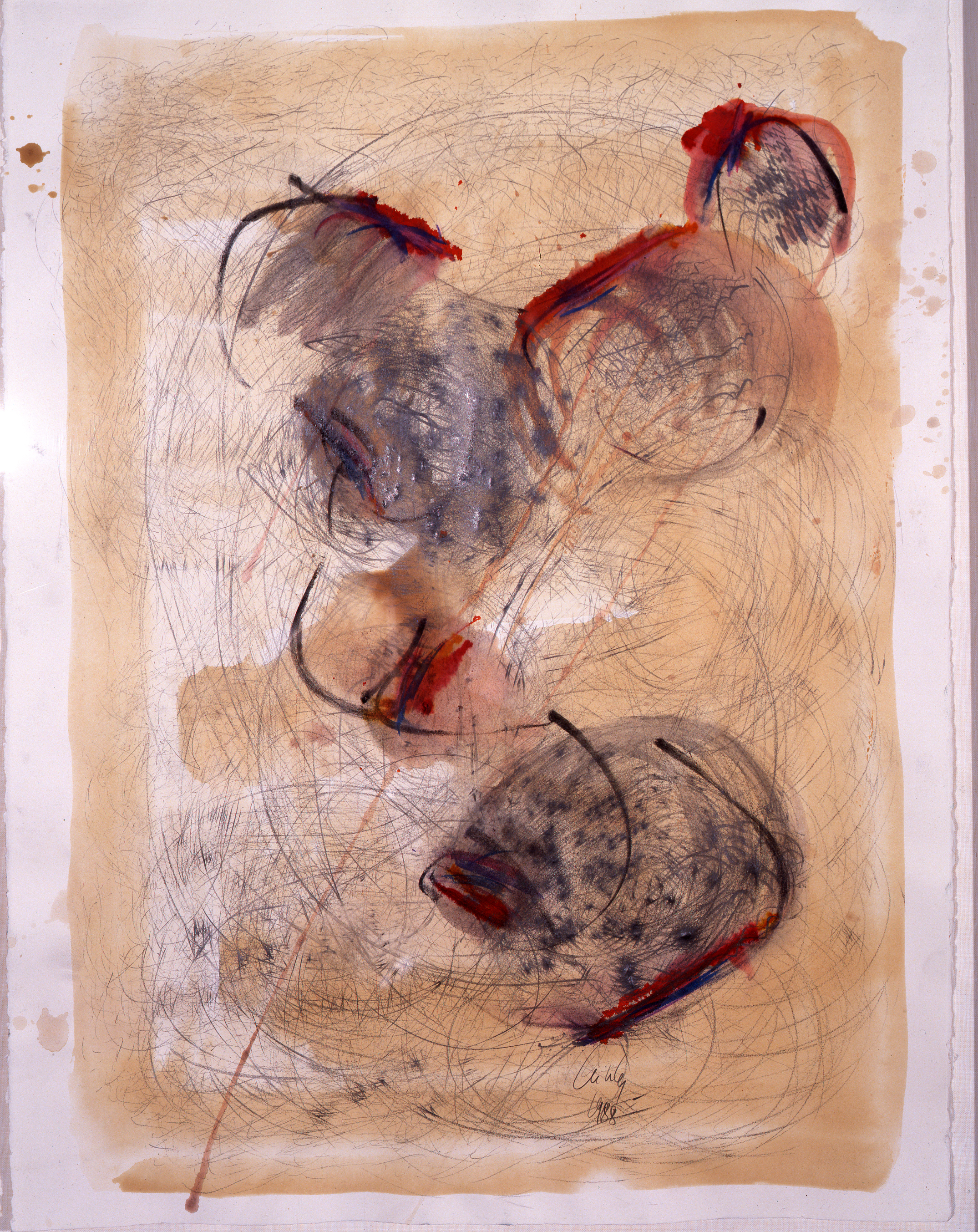 Dale Chihuly,  Basket Drawing,  (1988, mixed media on paper, 30 x 22 inches), DC.364