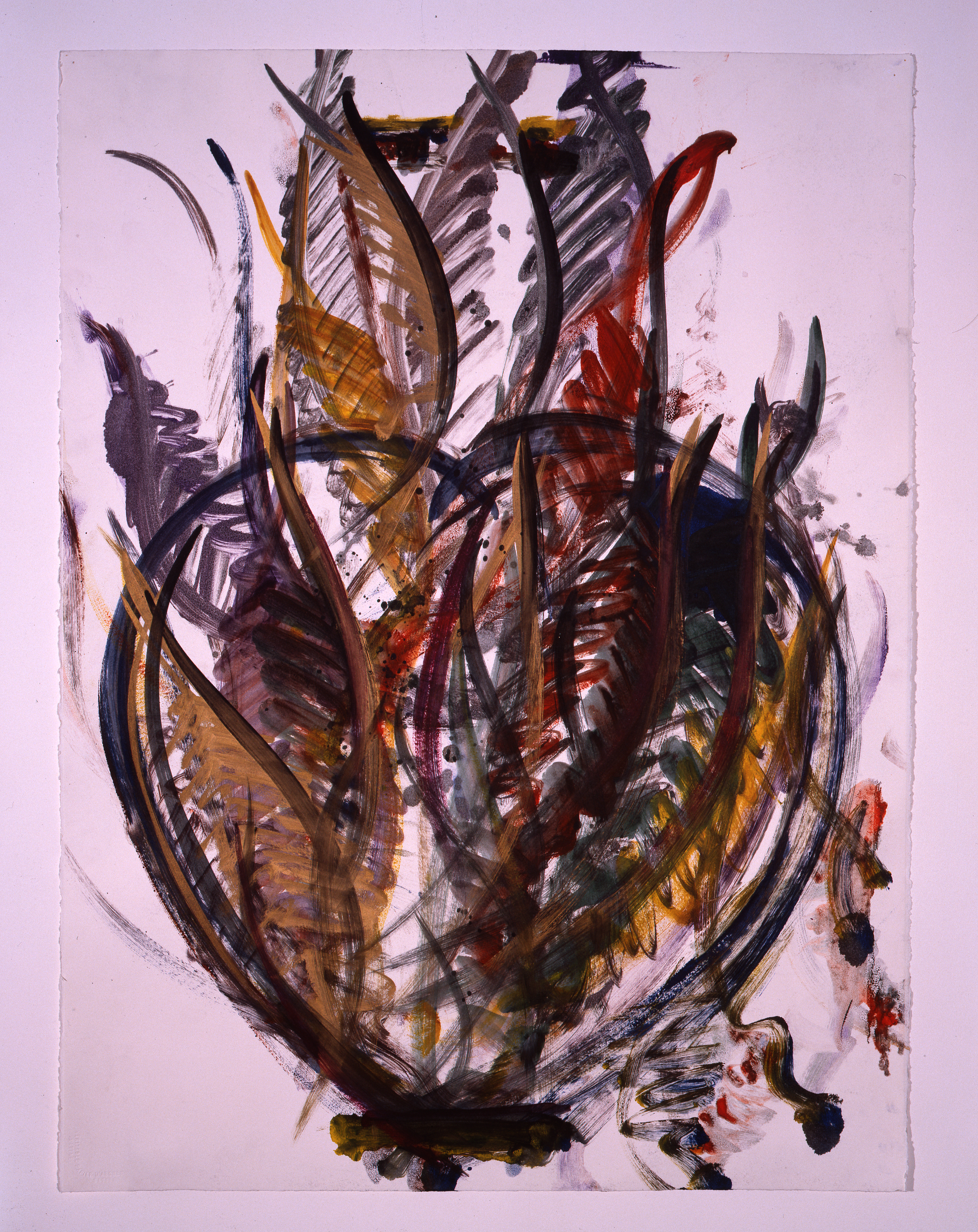 Dale Chihuly, Venetian Monoprint, (1989, ink on paper, 30 x 22 inches), DC.365