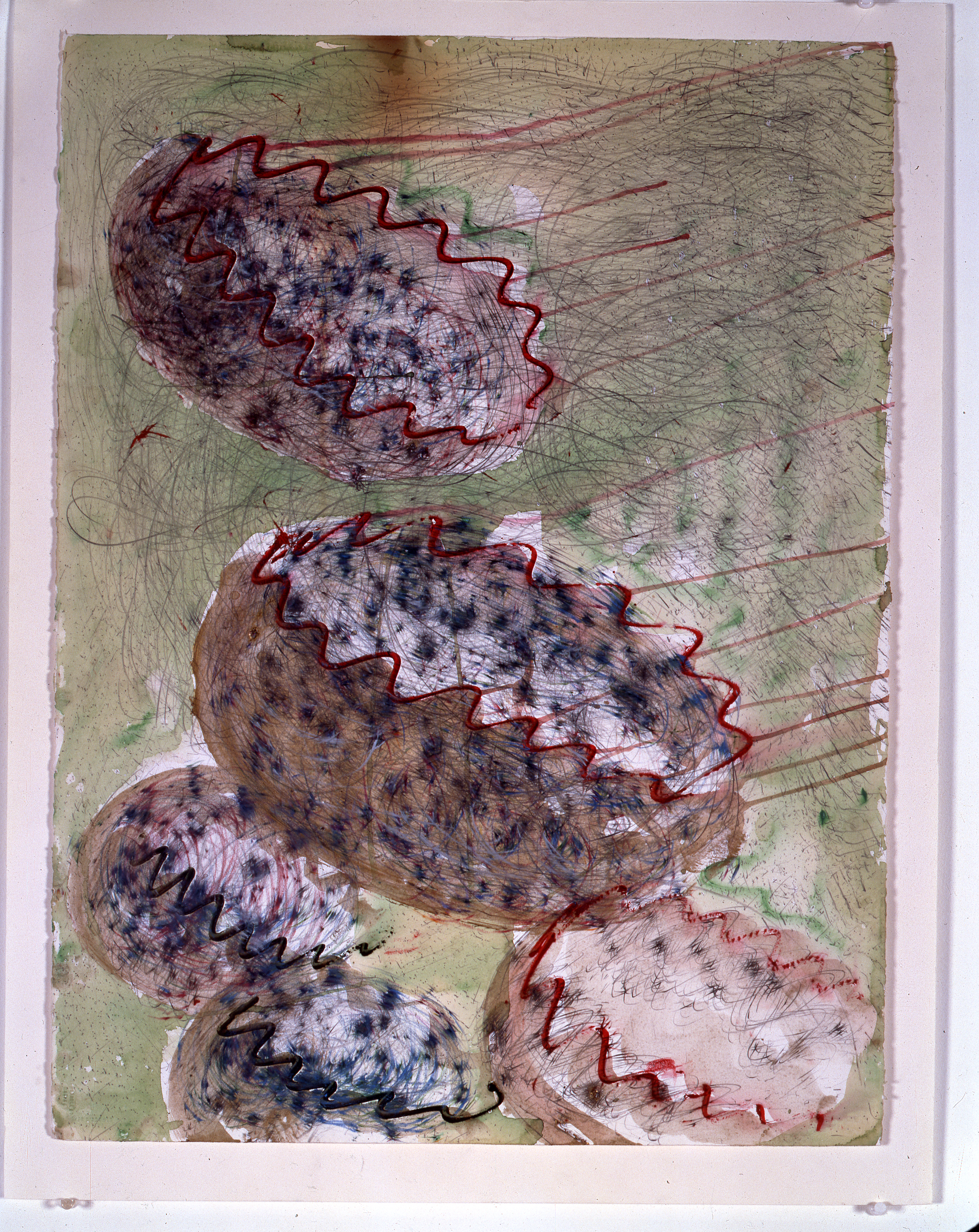 Dale Chihuly, Basket Drawing, (1984, mixed media on paper, 30 x 22 inches), DC.369