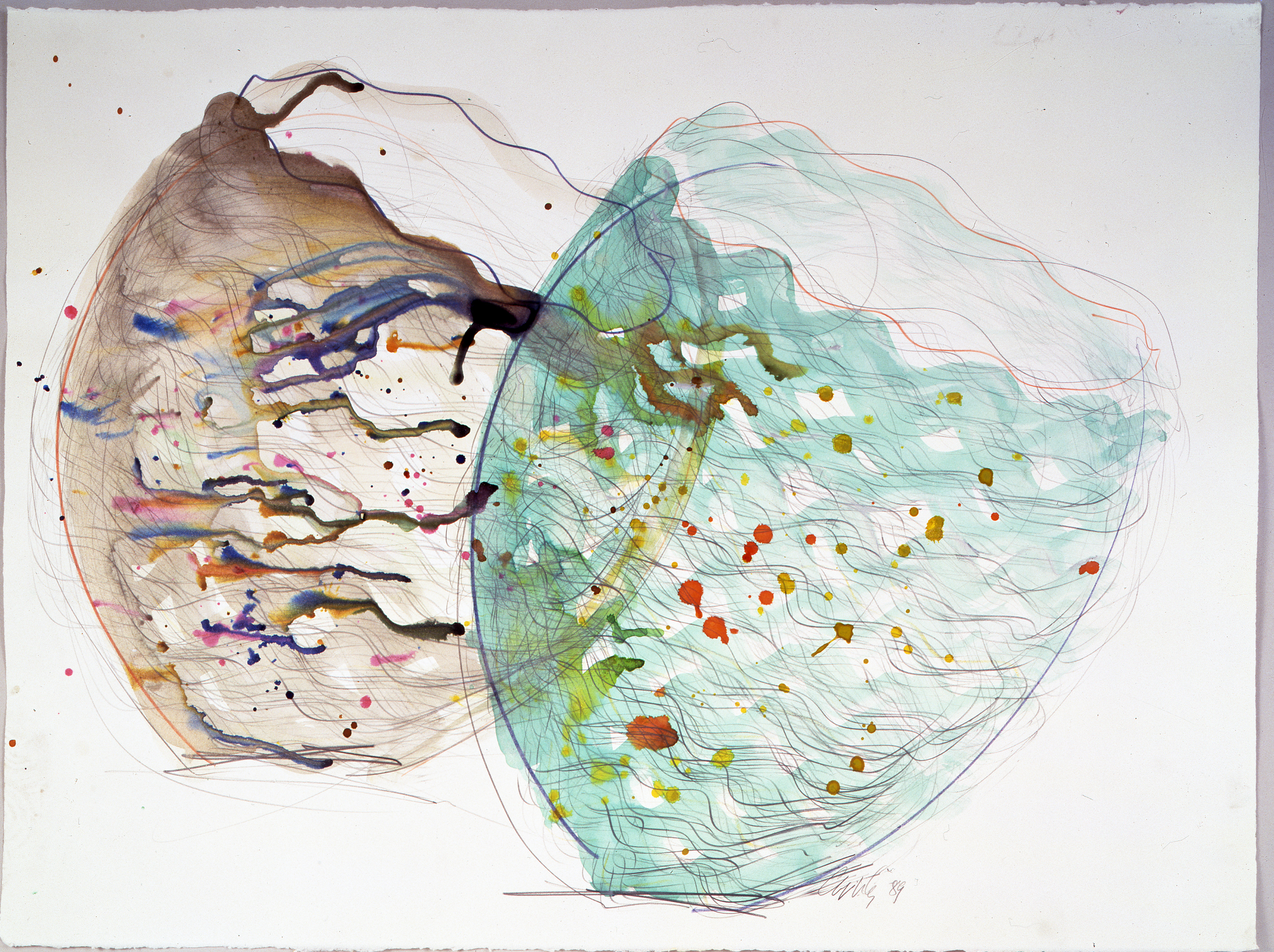 Dale Chihuly, Niijima Drawing #52, (1989, watercolor and graphiteon paper, 22 x 30 inches), DC.375