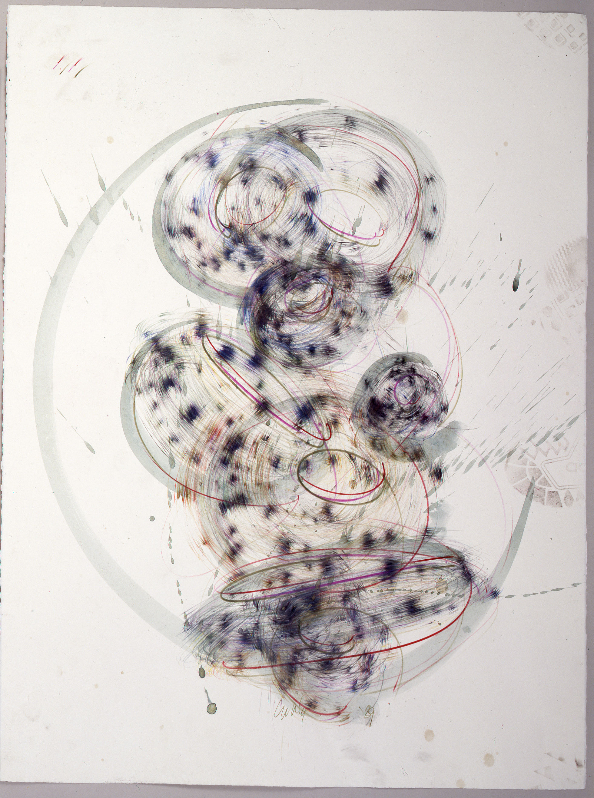 Dale Chihuly,  Niijima Drawing #15  ,  (1989, ink on paper, 30 x 22 inches), DC.376