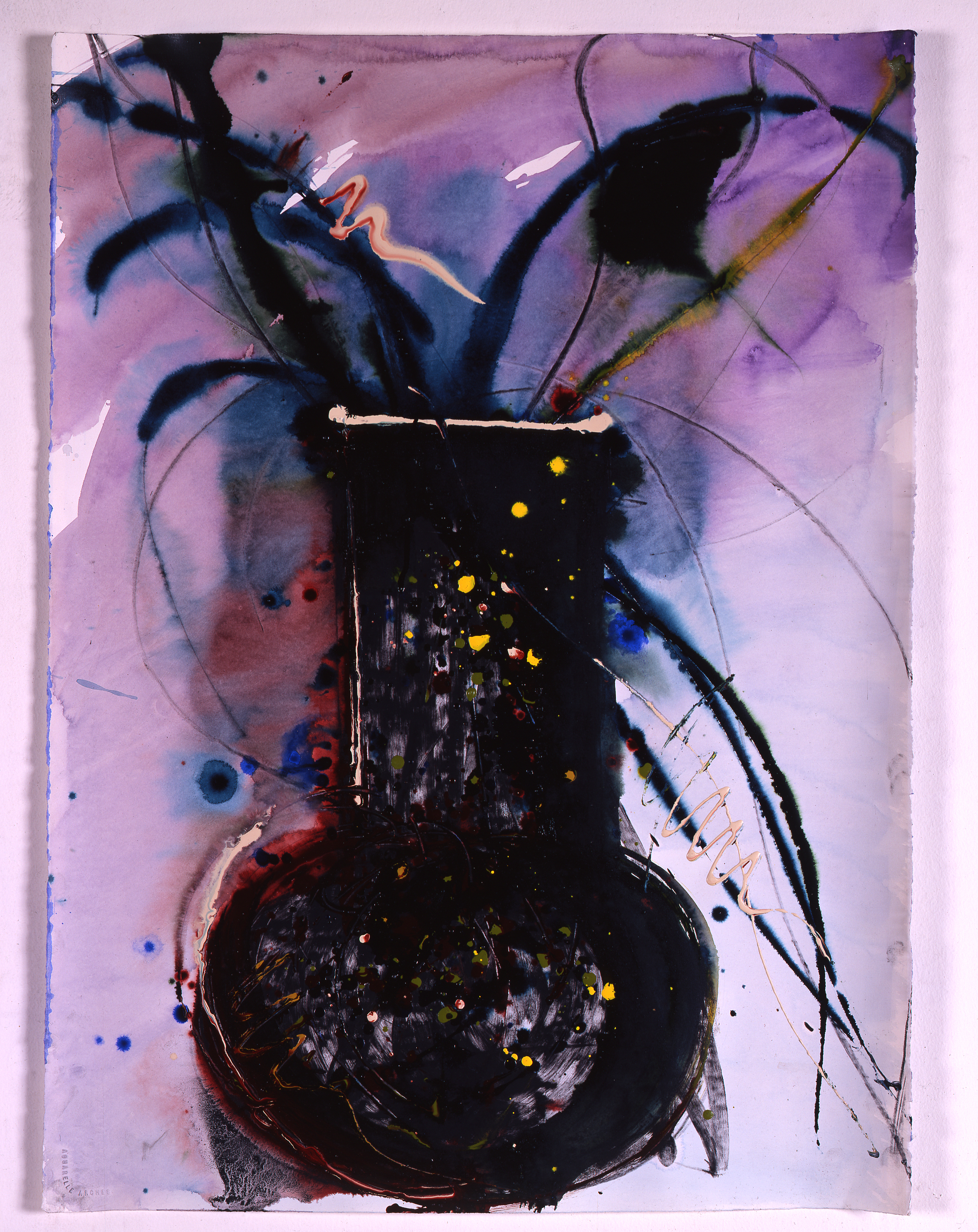 Dale Chihuly, Venetian Drawing (NY Lino Blow), (1992, mixed mediaon paper, 30 x 22 inches), DC.377