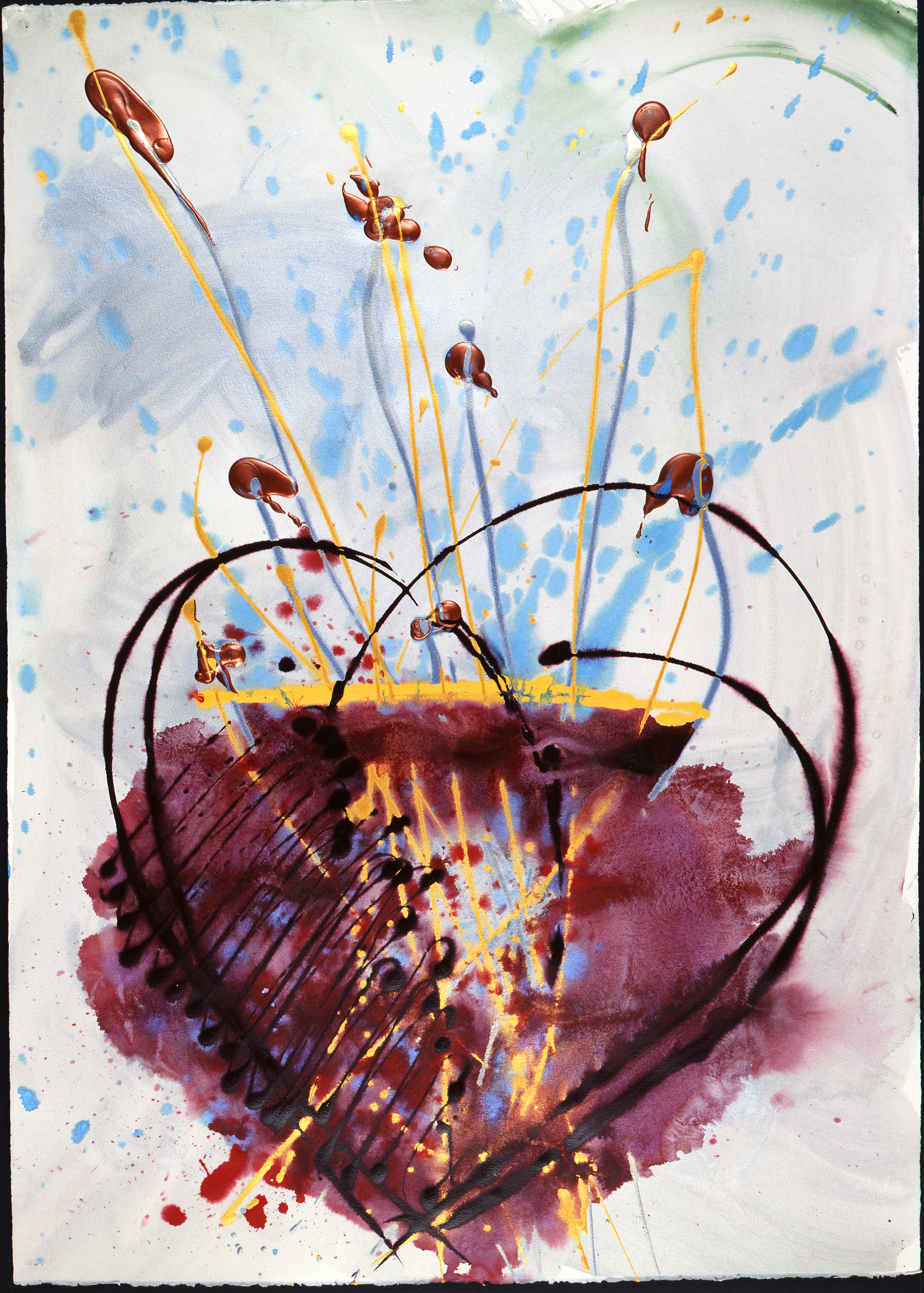 Dale Chihuly, Hawaii Drawing, (1992,41 x 29 inches), DC.382