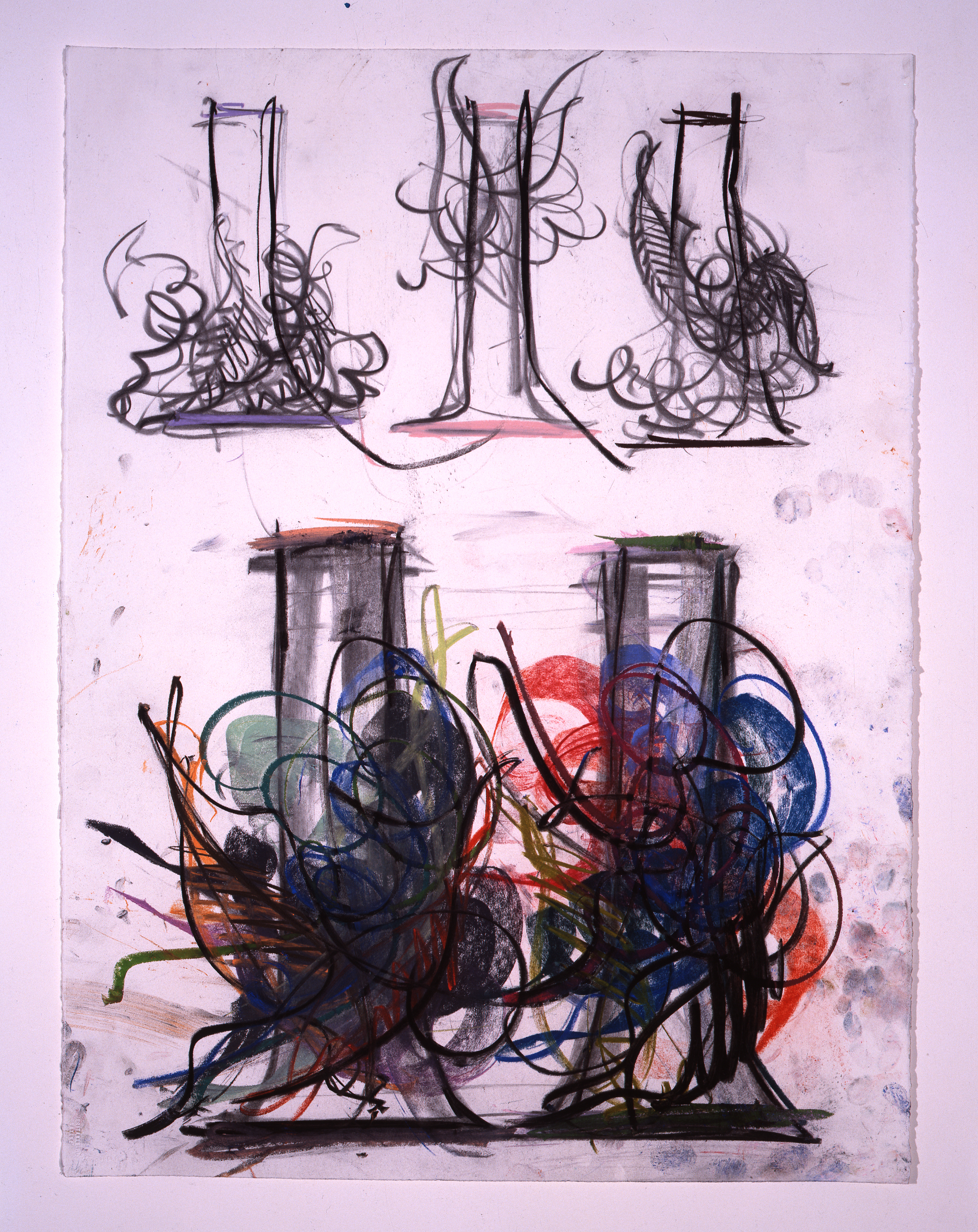 Dale Chihuly, Venetian Drawing, (1990, pastel and charcoal on paper, 30 x 22 inches), DC.387