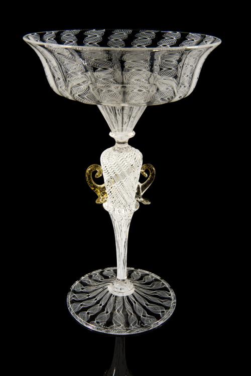 Lino Tagliapietra, Amphoriskos-stem  Goblet (1991-1994, glass, 7 7/8 x 5 x 5inches), LT.7