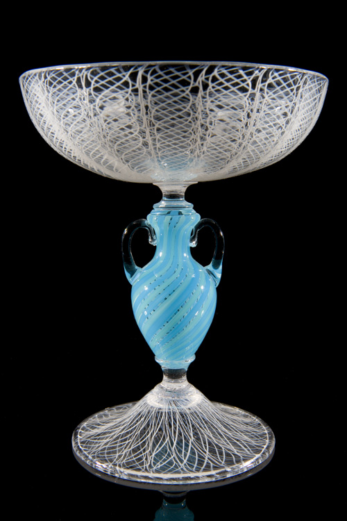 Lino Tagliapietra, Amphroiskos-stem   Goblet (1991-1994, glass, 5 9/16 x 4 11/16 x 4 11/16 inches), LT.12