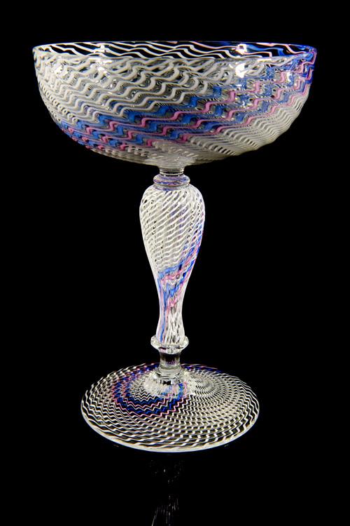 Lino Tagliapietra, Goblet (1991-1994, glass, 6 1/4 x 4 1/2 x 4 1/2 inches), LT.19