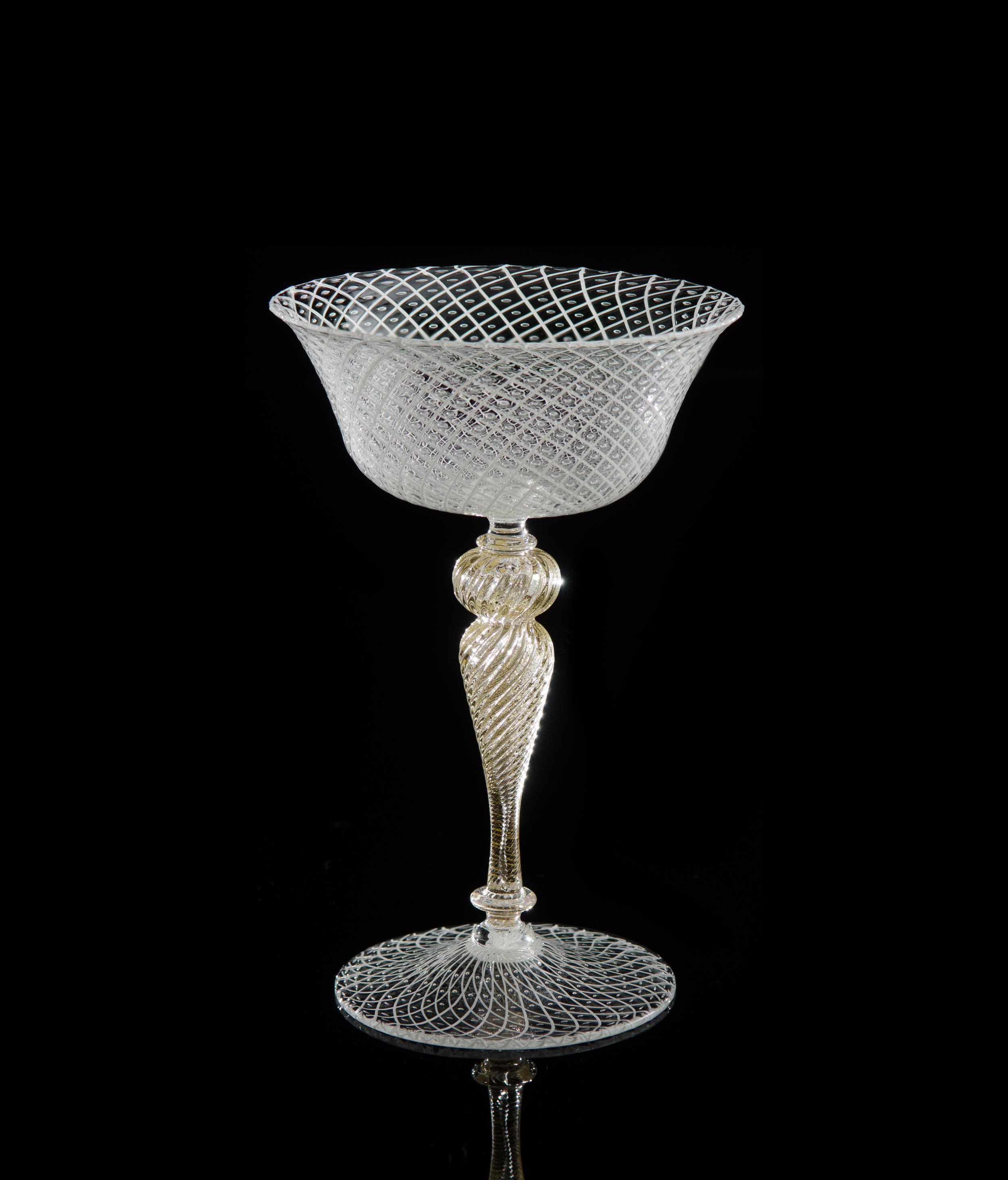 Lino Tagliapietra, Goblet (1991-1994, glass, 6 5/8 x 4 1/2 x 4 1/2 inches), LT.18