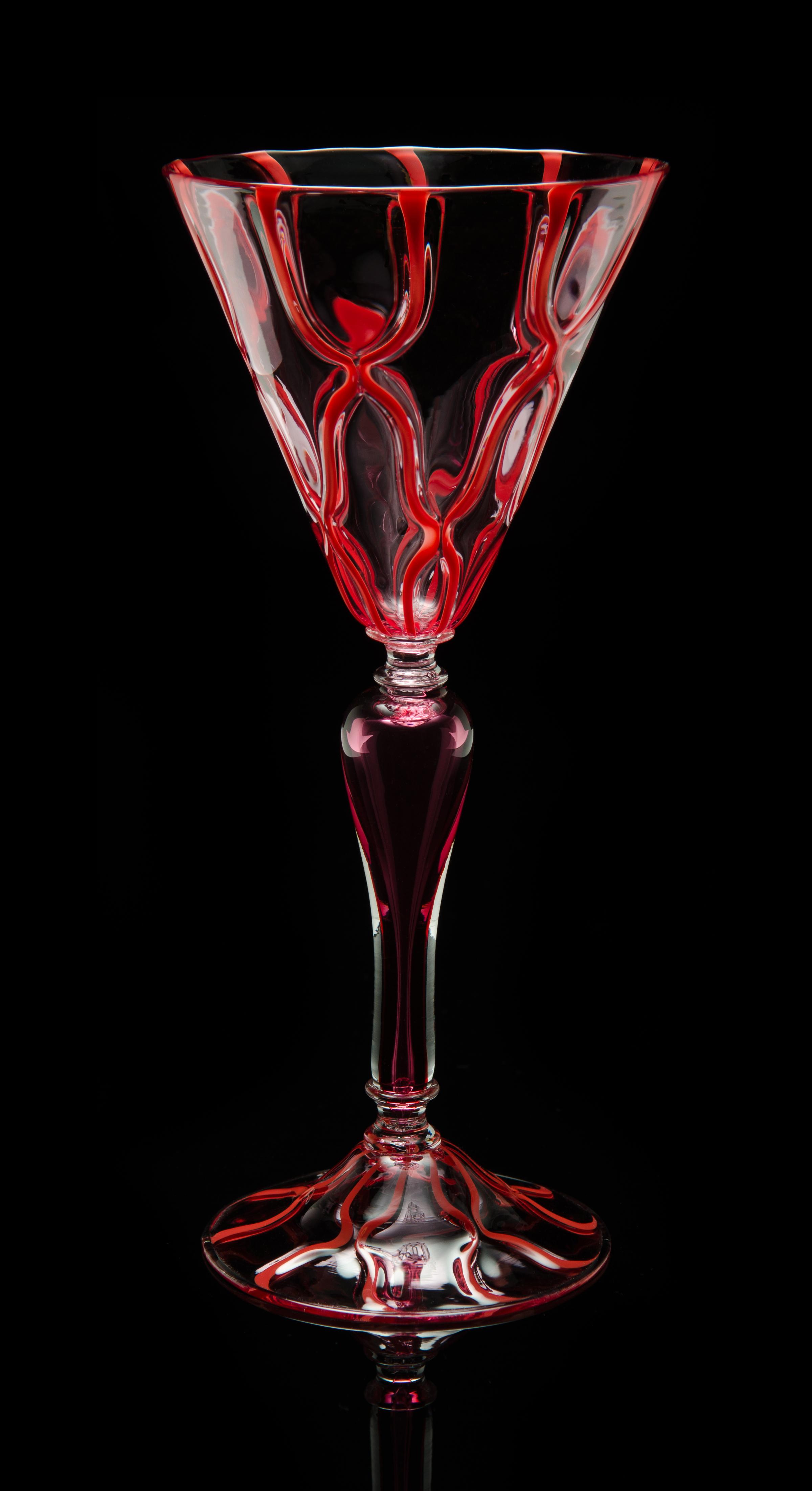 Lino Tagliapietra, Goblet (1991-1994, glass, 9 11/16 x 4 1/4 x 4 1/4 inches), LT.20