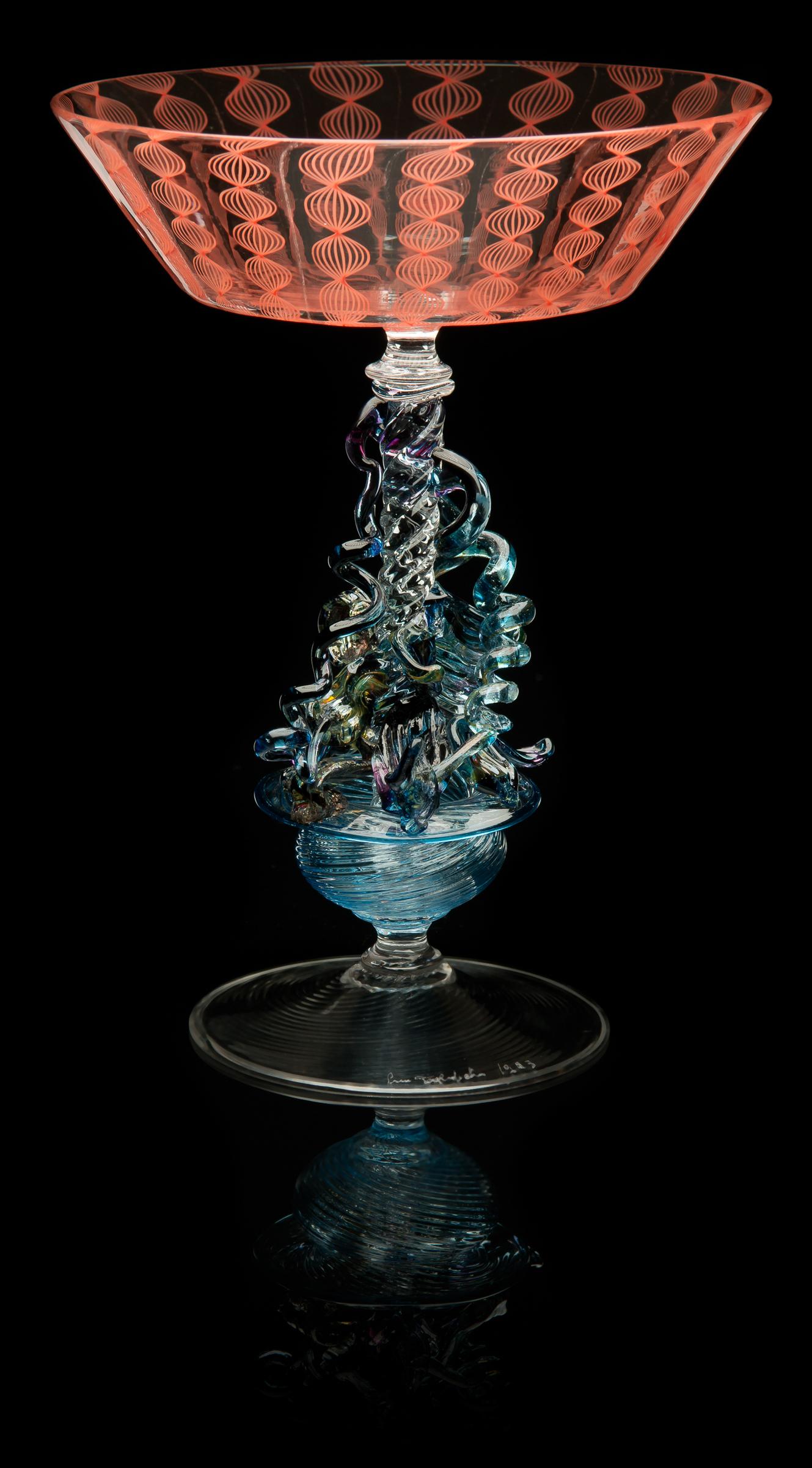 Lino Tagliapietra, Goblet (1991-1994, glass, 7 3/16 x 5 1/2 x 5 1/2inches), LT.31
