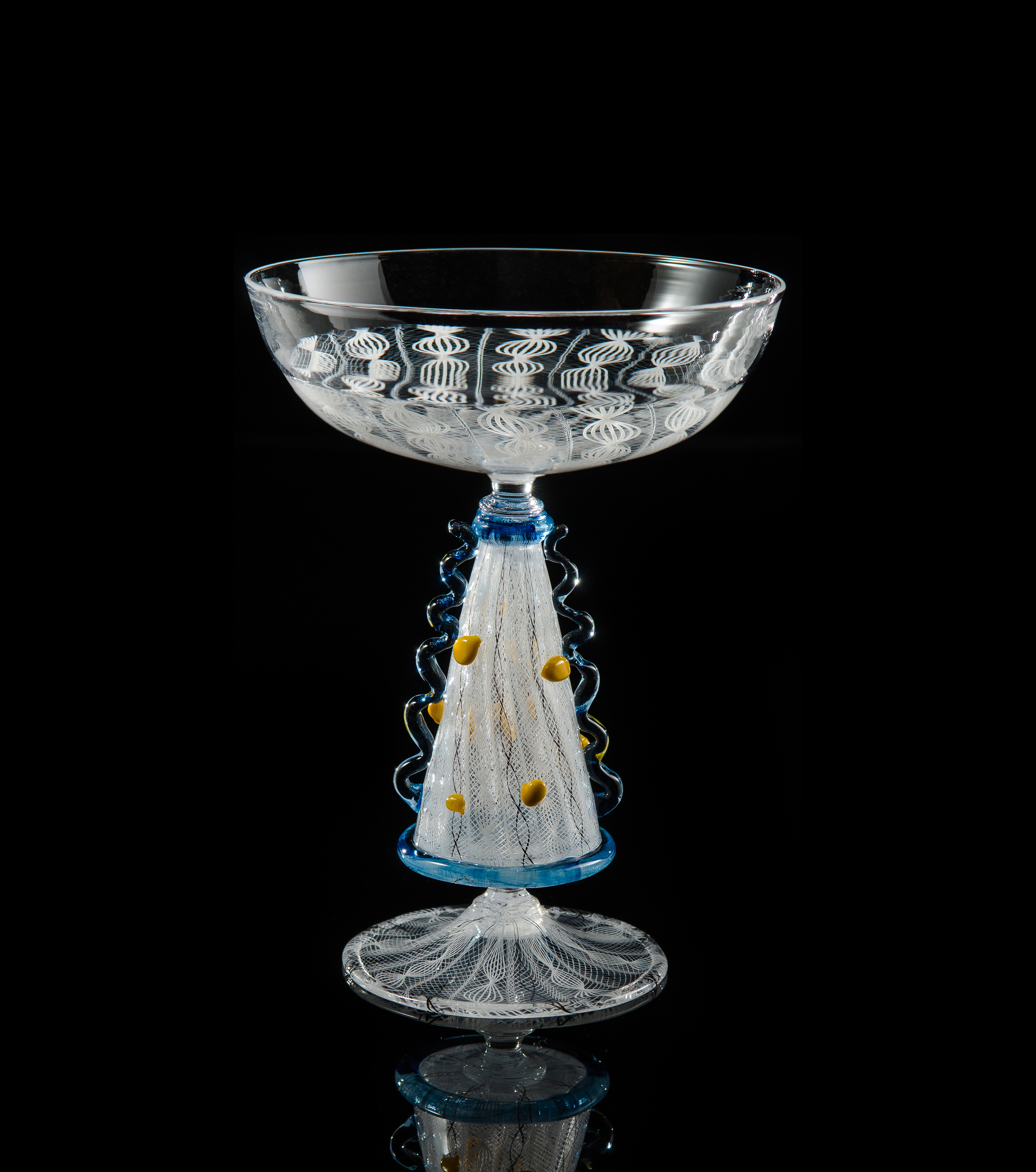 Lino Tagliapietra, Goblet (1991-1994, glass, 6 7/8 x 5 1/4 x 5 1/4inches), LT.29