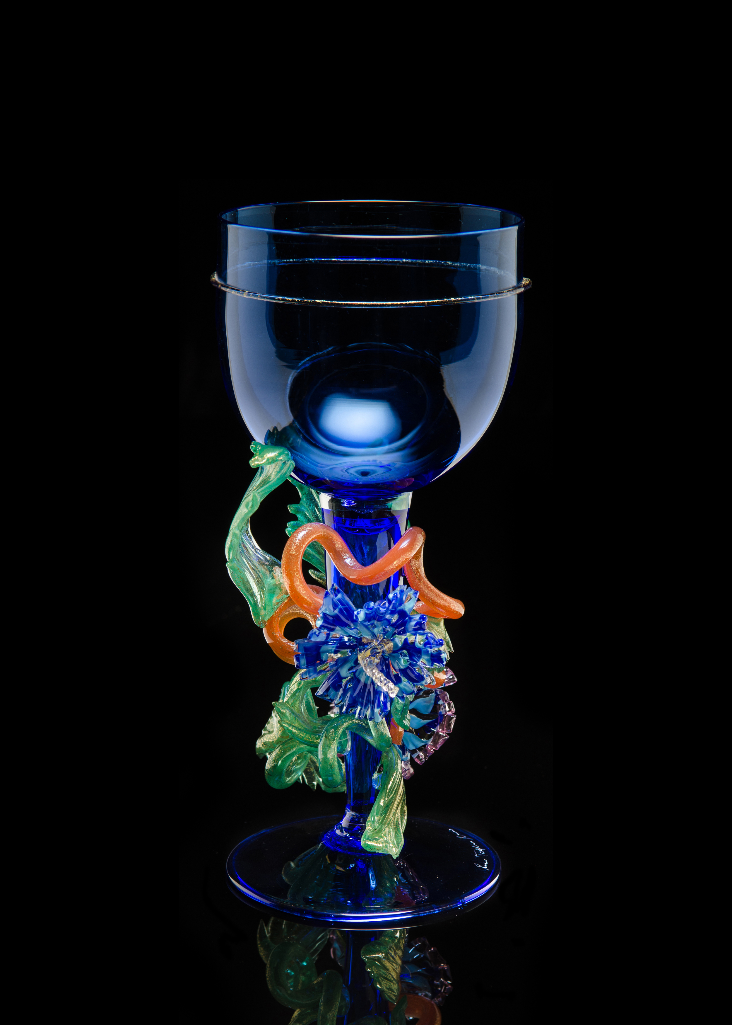 Lino Tagliapietra, Goblet, (1991-1994, glass, 9 1/4 x 4 1/4 x 4 1/4 inches), LT.39