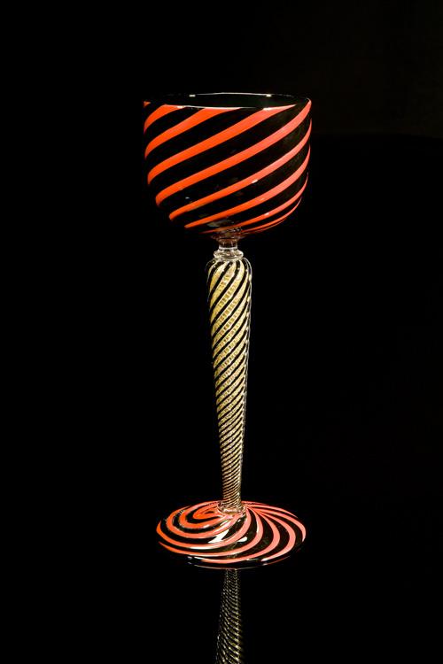 Lino Tagliapietra, Goblet (1991-1994, glass, 9 11/16 x 3 1/2 x 3 1/2 inches), LT.53
