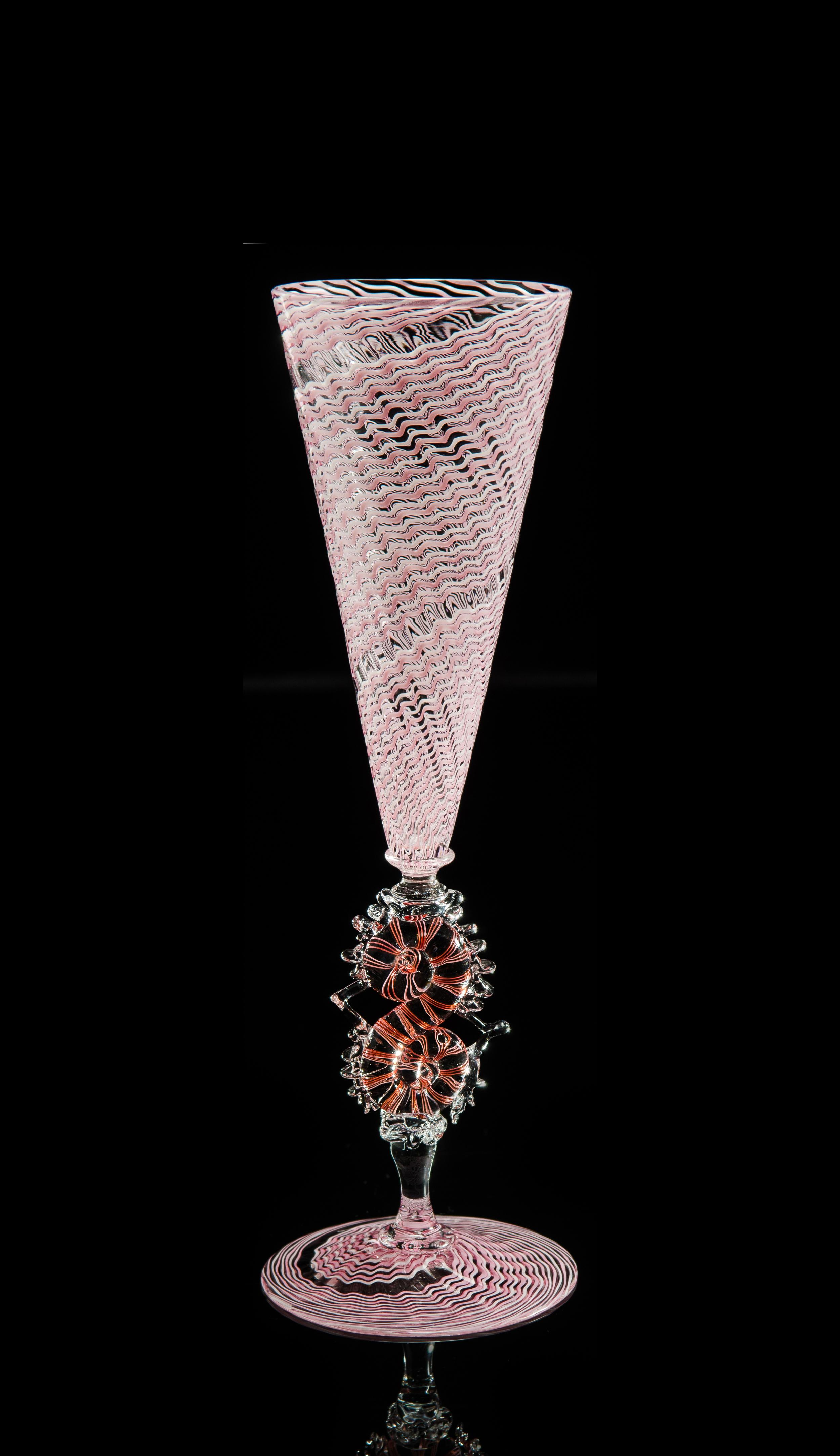 Lino Tagliapietra, Goblet (1991-1994, glass, 7 3/4 x 3 3/4 x 3 3/4 inches), LT.66
