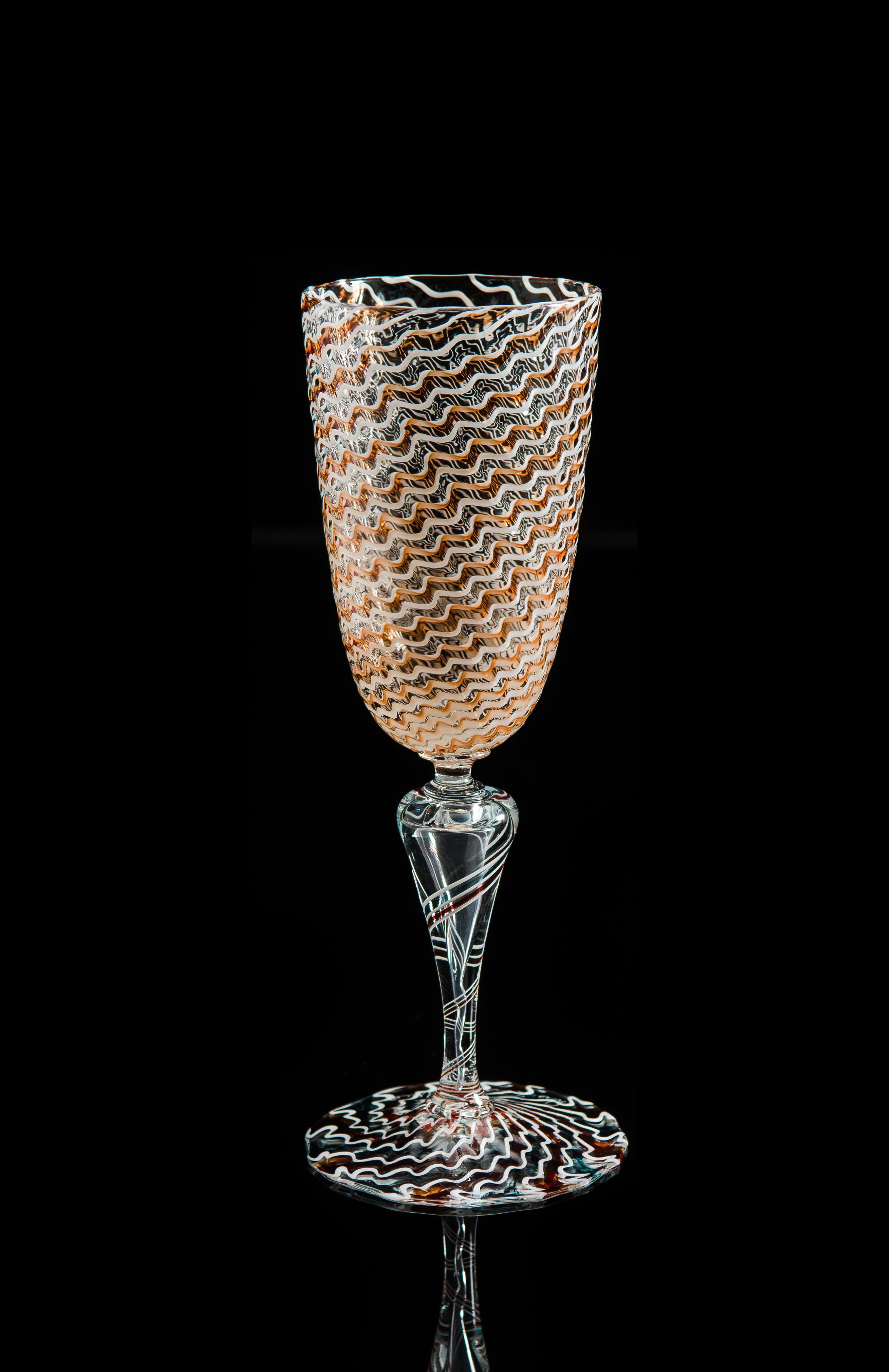 Lino Tagliapietra, Goblet (1991-1994, glass, 8 3/4 x 2 7/8 x 2 7/8 inches), LT.70