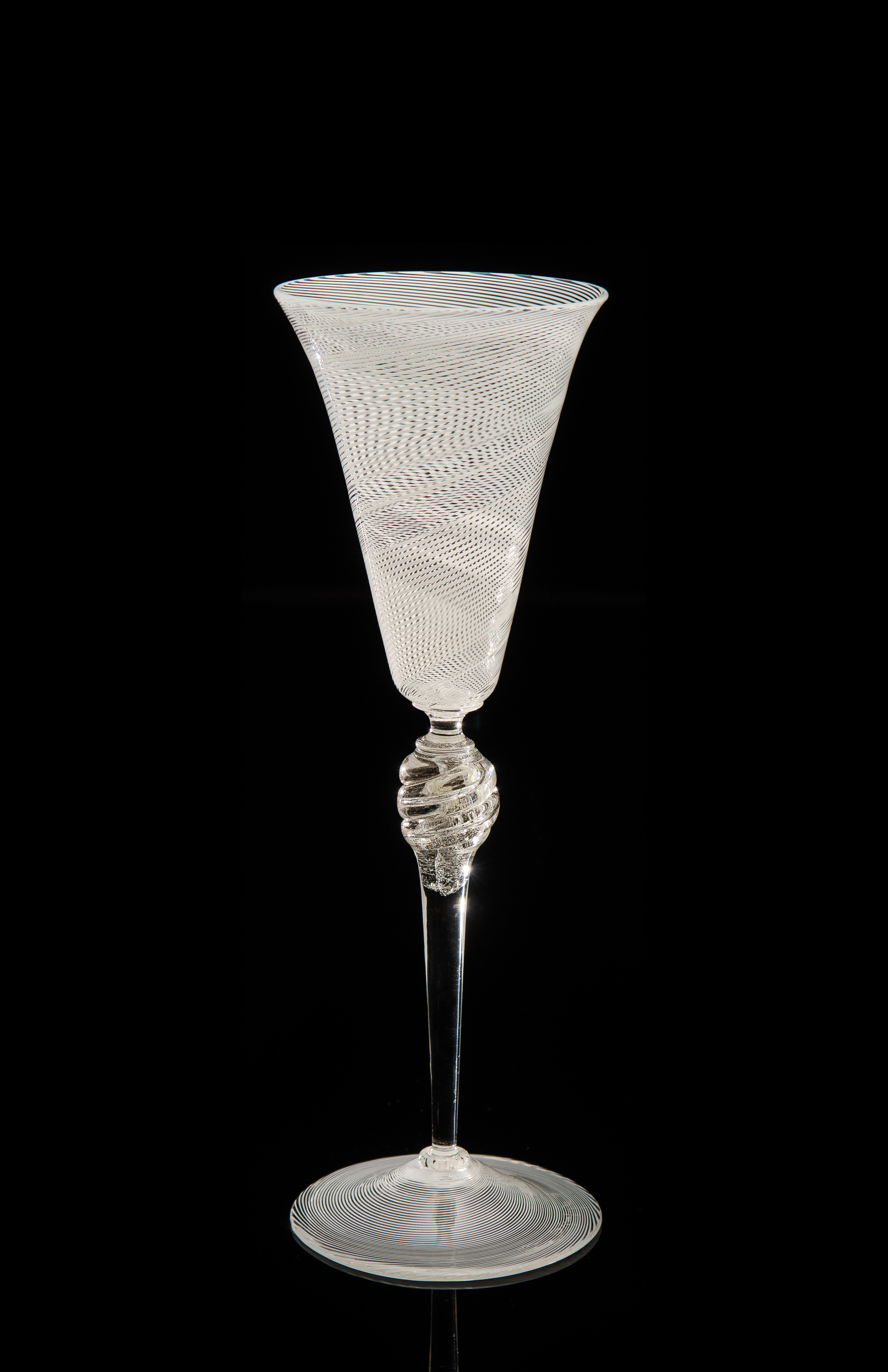 Lino Tagliapietra, Goblet (1991-1994, glass, 10 x 3 3/8 x 3 3/8 inches), LT.78