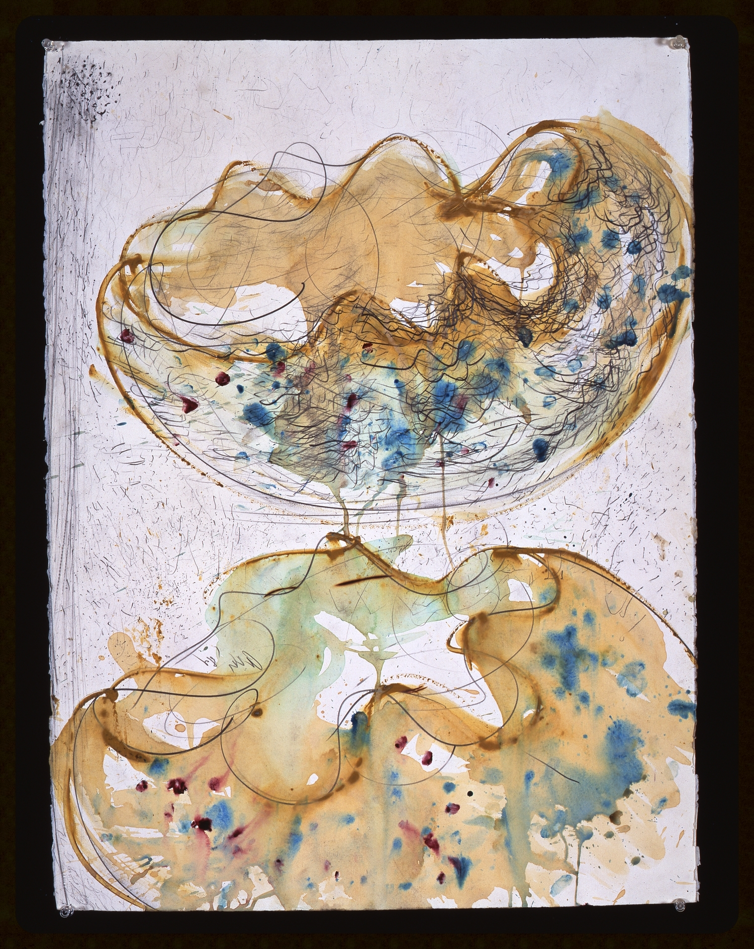 Dale Chihuly, Macchia Drawing #14,  (1982, charcoal, watercolor and graphite on paper, 30 x 22 inches), DC.83