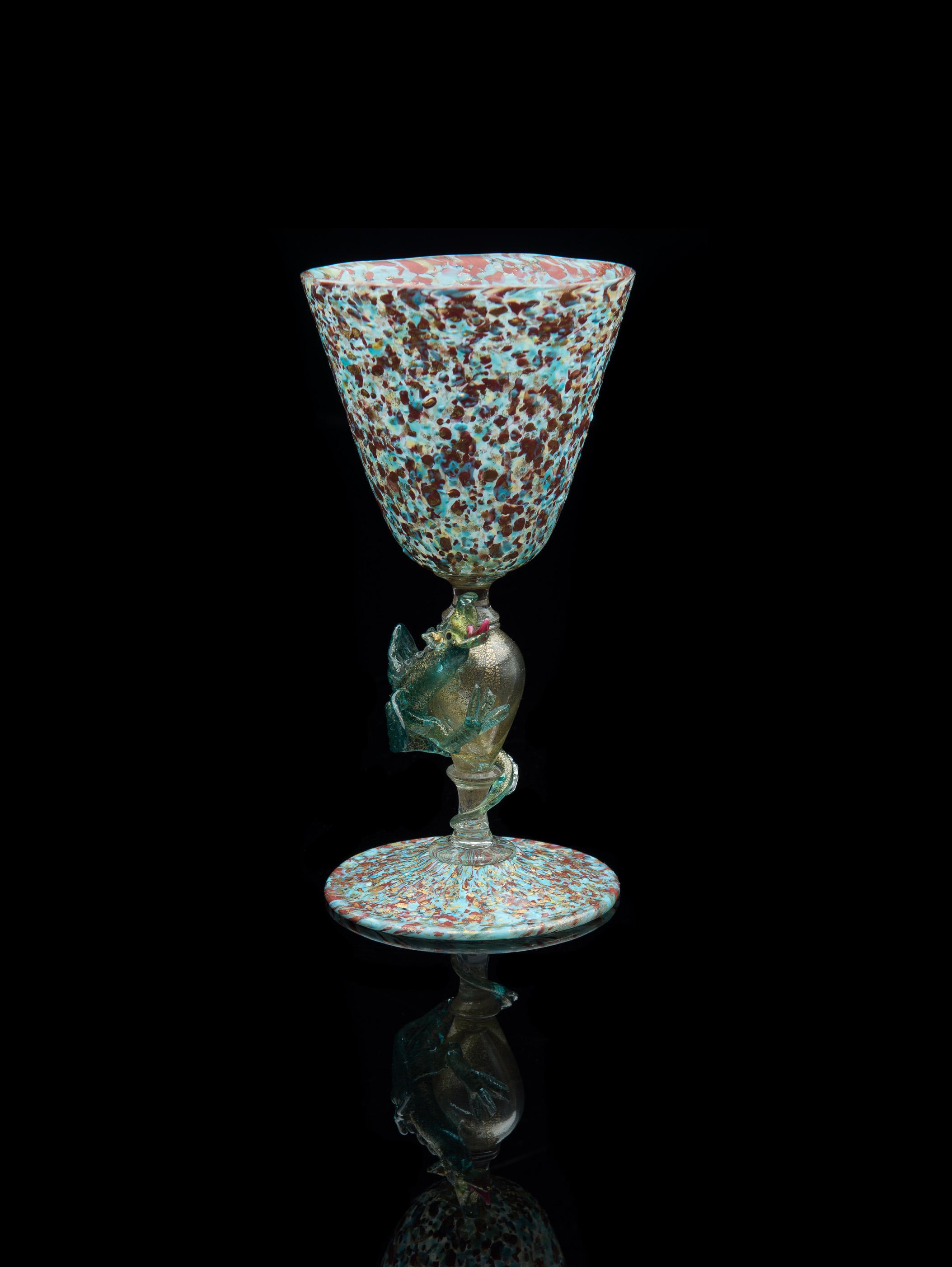 Salviati and Company, Descreziato Dragon Stem Goblet (glass), VV.401