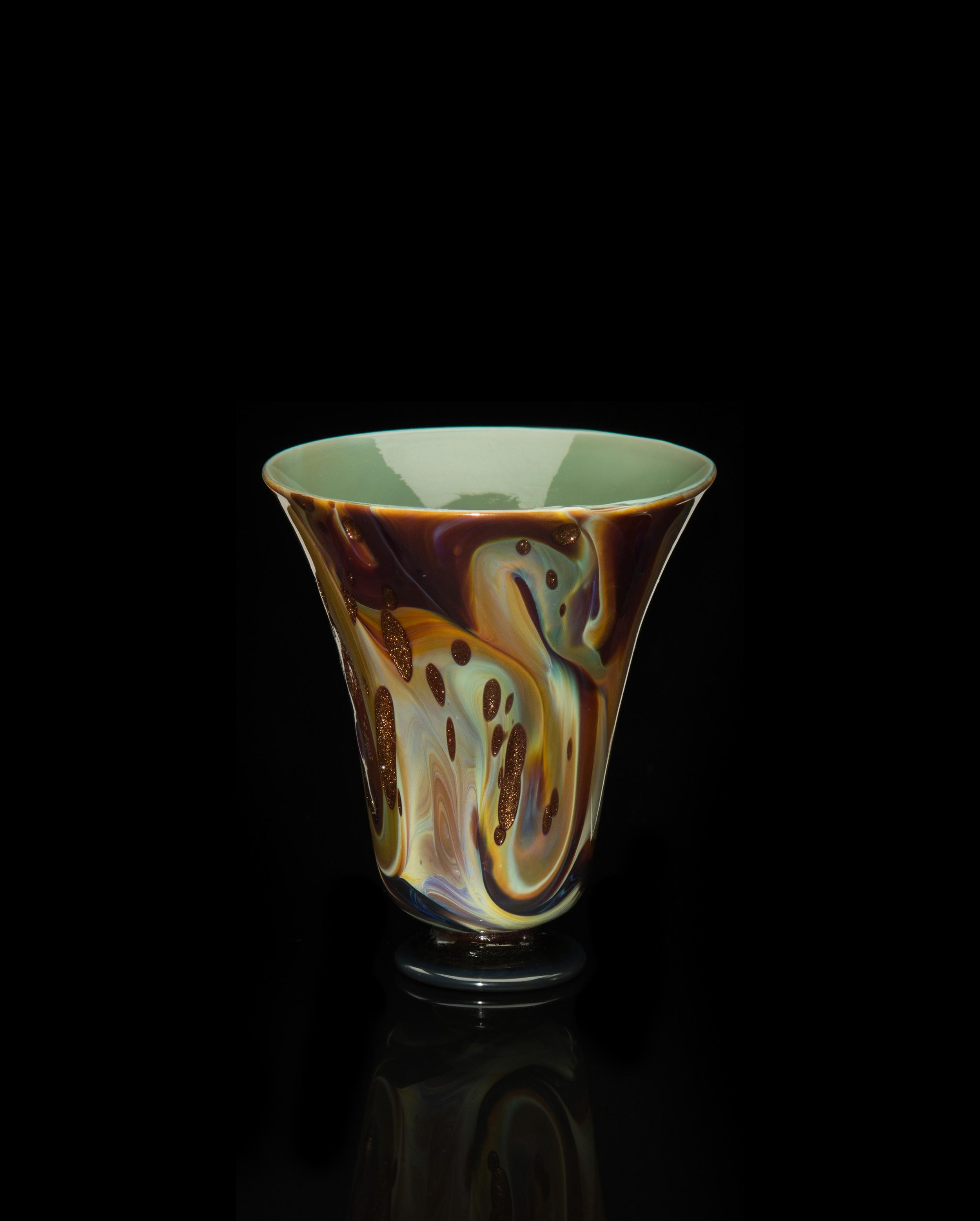 Unknown Venetian, Calcedonio con Avventurina a Macchie Tumbler (glass, 3 3/8 inches), VV.583