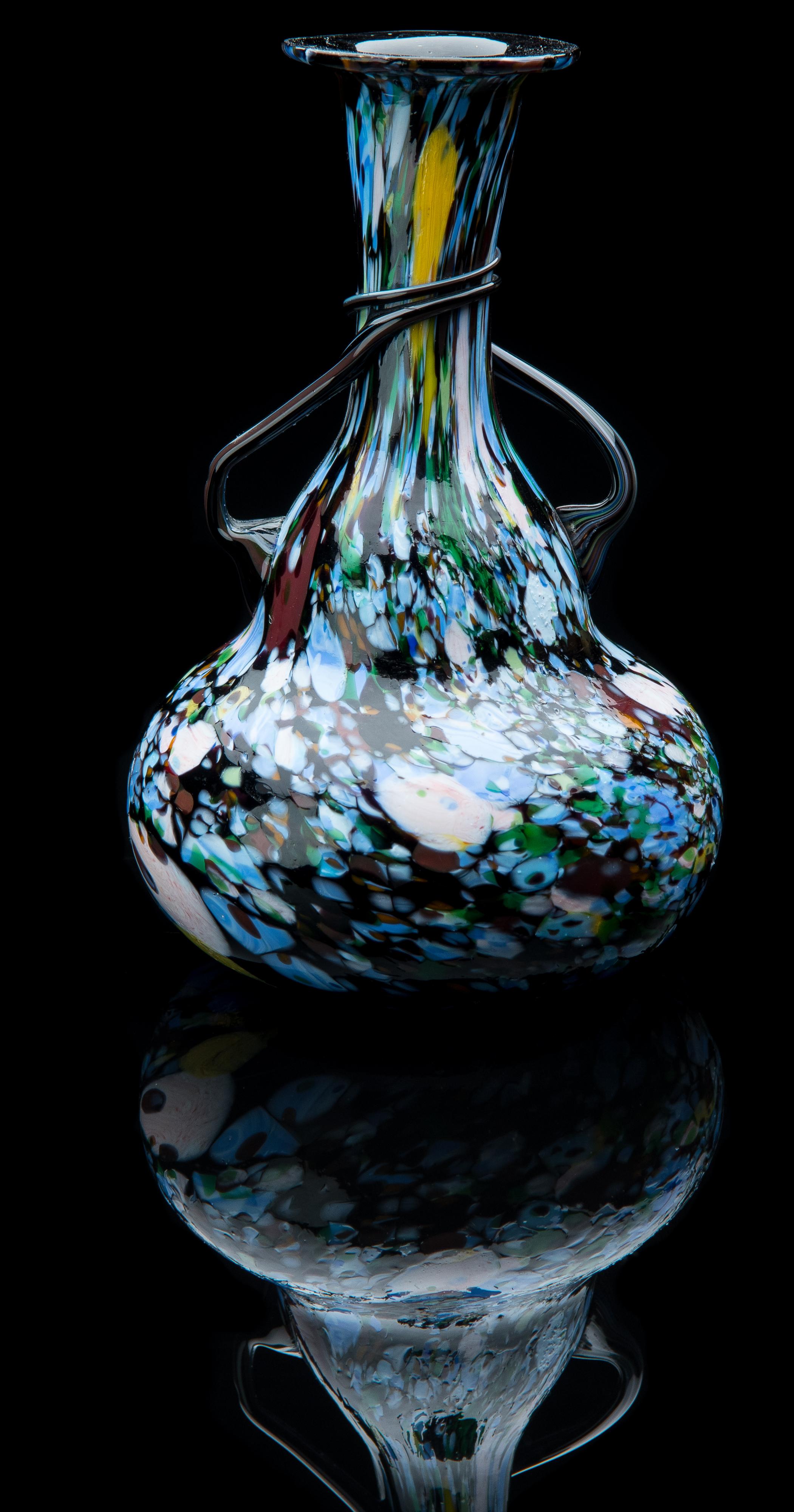 Salviati and Company,  Dappled Vase  (glass, 6 inches), VV.949