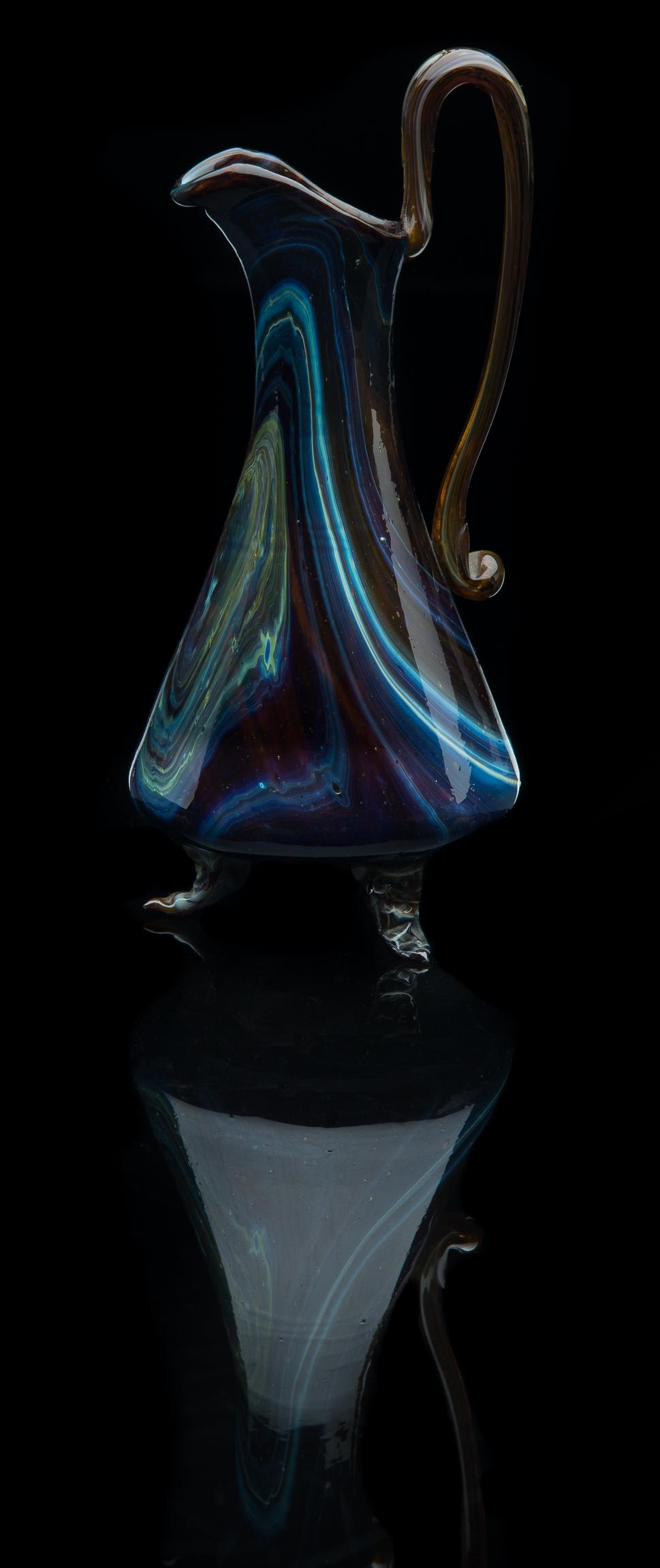 Salviati and Company,  Chalcedony Ewer  (circa 1860, glass, 7 3/4 inches), VV.400