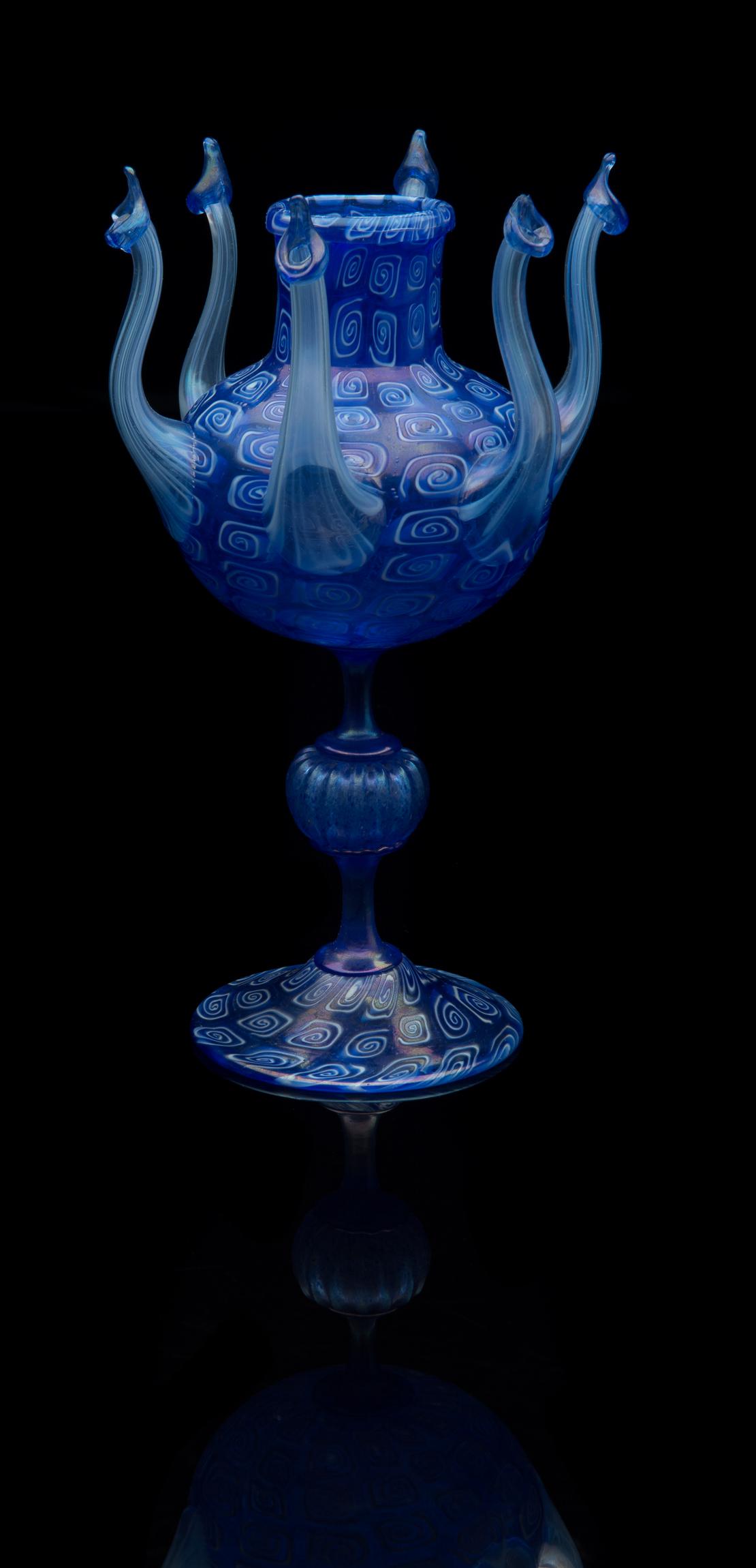 Fratelli Toso,  Murrhine Octopus Form Vase  (circa 1895, glass, 9 1/8 inches), VV.408