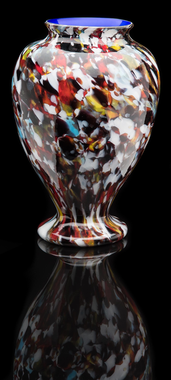 Francesco Ferro e Figlio,  Multicolored Macchie Vase  (circa 1890, glass, 12.5 inches), VV.558