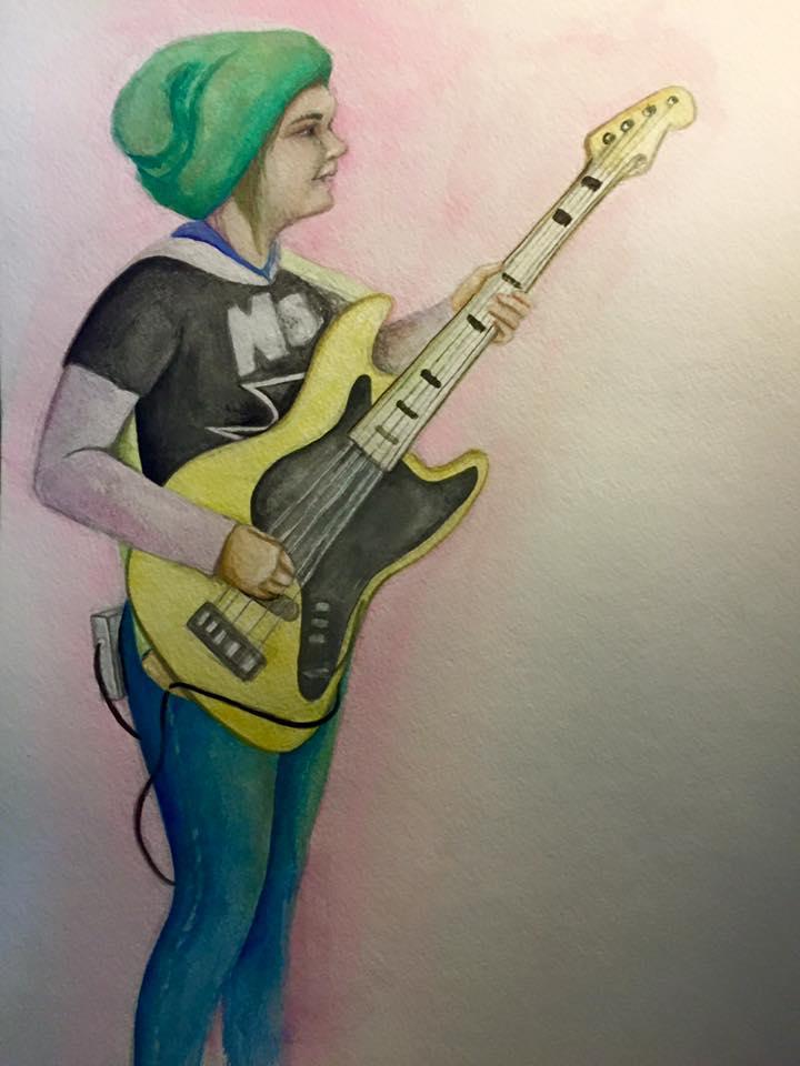 © 2015 Kat Phillips. Portrait. Watercolor.