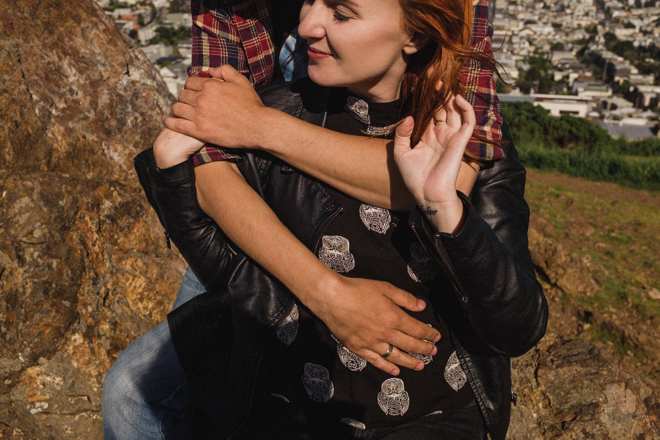 Agata i Damian - sesja na Tank Hill w San Francisco