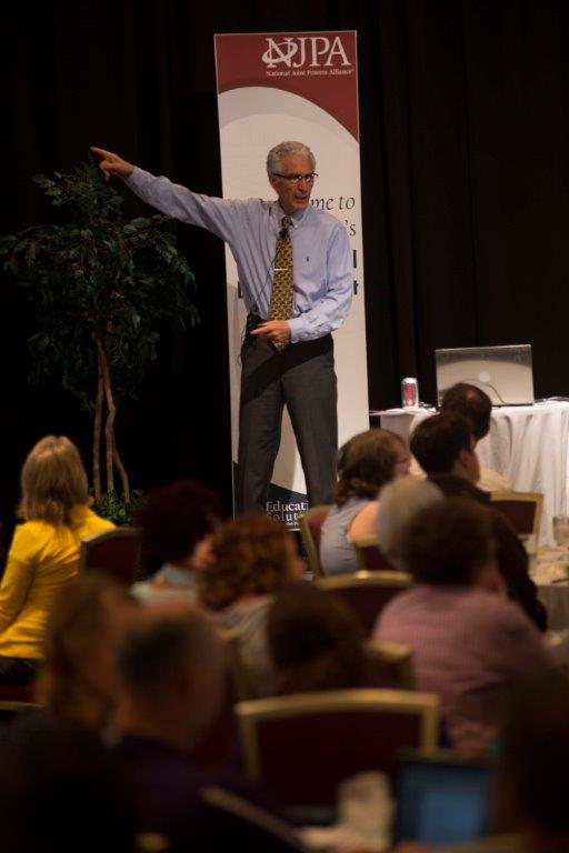 Dr. Marzano speaking to educators and administrators at the workshop, Aug. 28. (Courtesy photo)