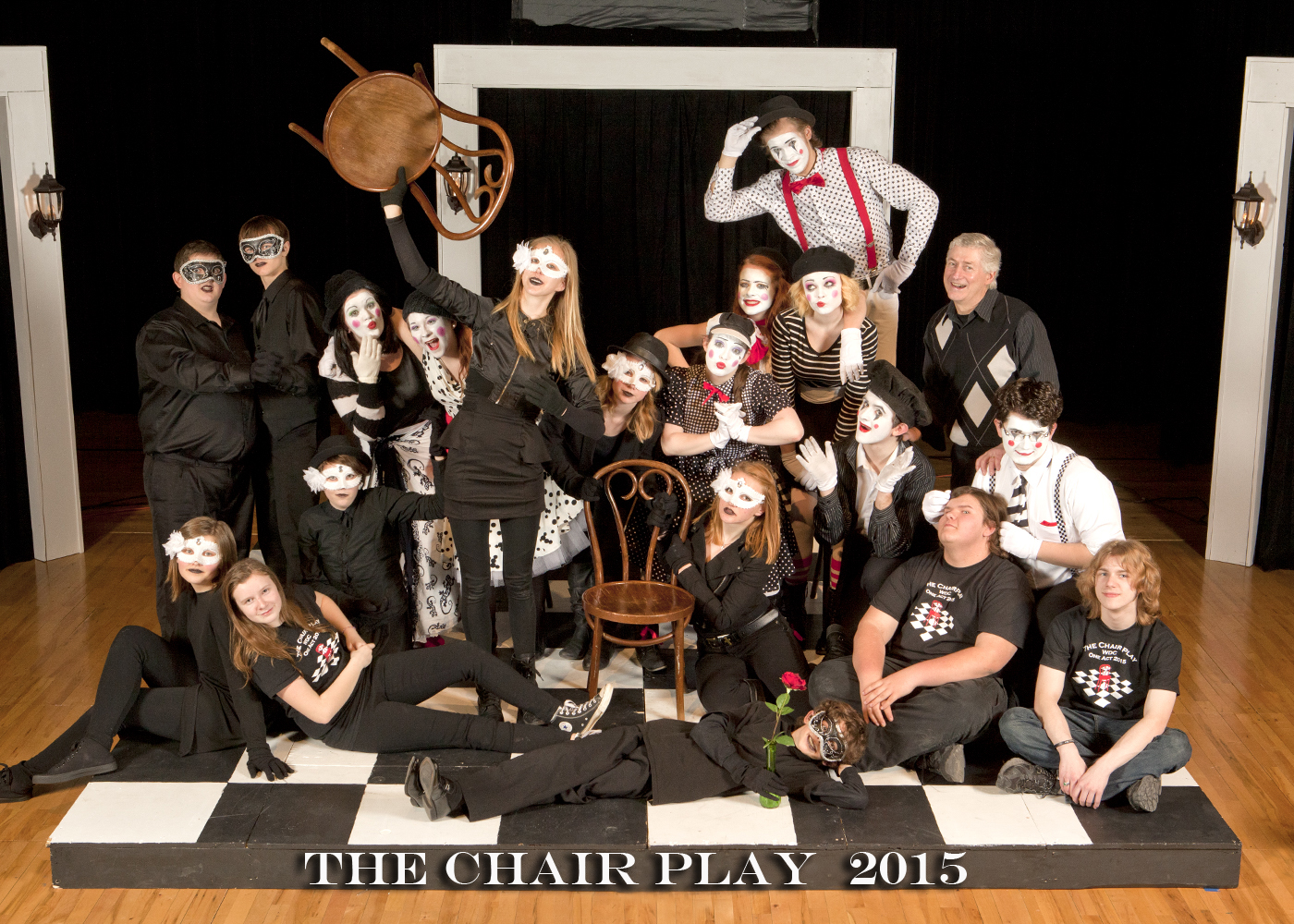 "Wadena-Deer Creek one-act cast and crew earned first place for ""The Chair Play"" at Sections Saturday, Jan. 31 in Hawley, where they competed against seven other schools. They advance to the State One-Act Festival next week in St. Paul.  (Photo by Dan Broten)"
