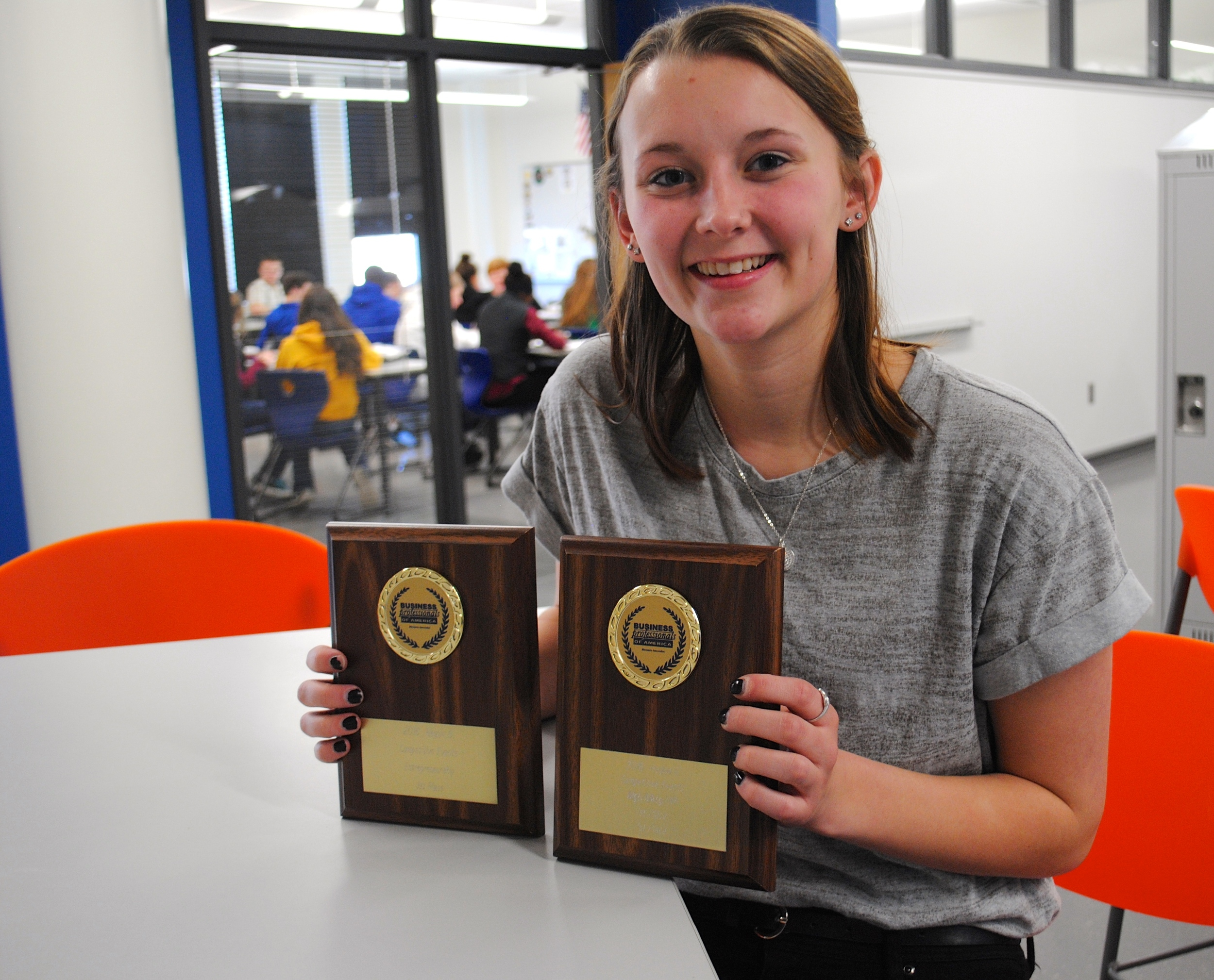Wadena-Deer Creek senior Jessica Langer placed first in two categories at the Region 6 BPA competition. (Photo by Dana Pavek, WDC Schools)