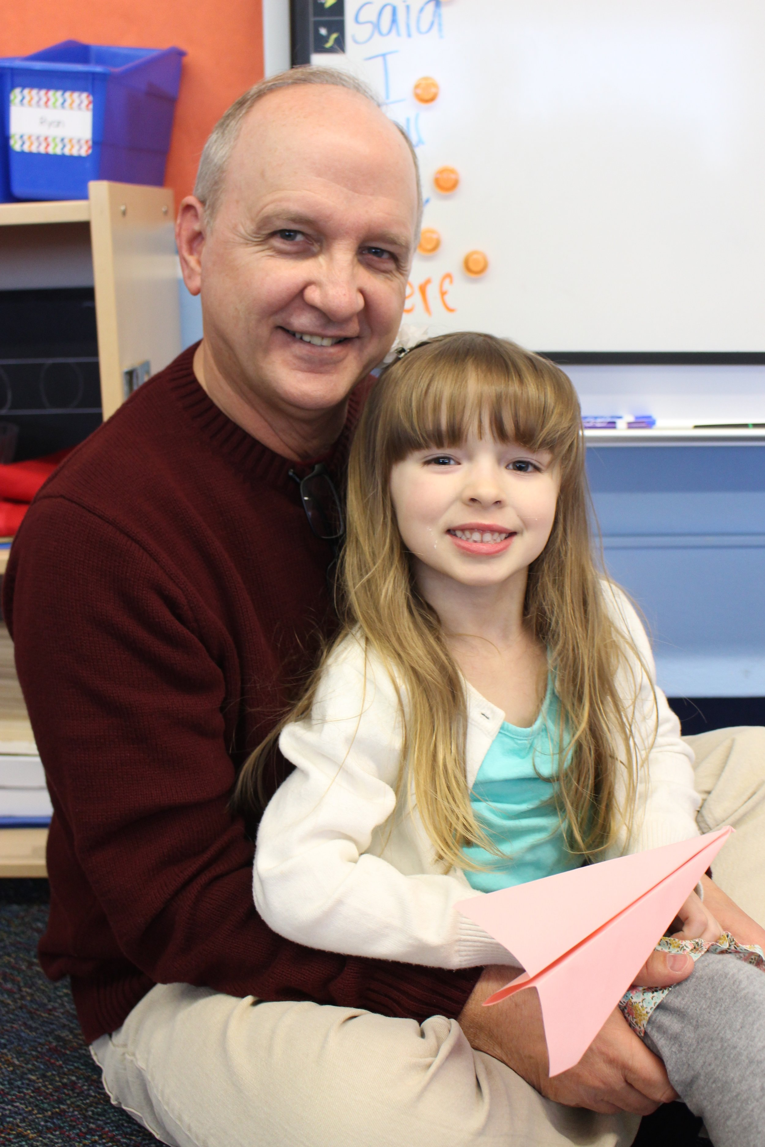 "Madison Shrode's grandpa, Wes Tessman, drove three hours to be at ""Donuts with Dad"" today."