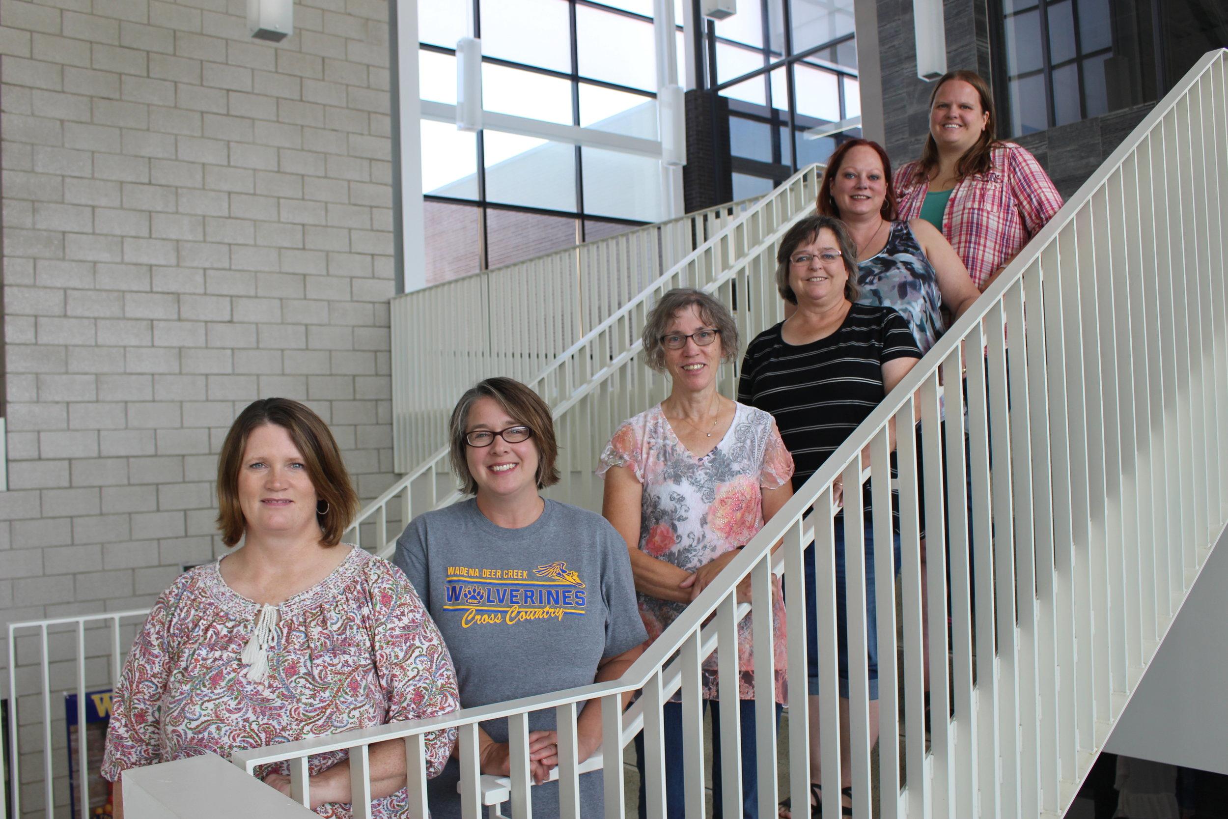 From left, Alicia Johnson, Leanne Ries, Patti Isaacson, Jan Bernu, Deb Fitzsimmons and Sarah Steinkopf.