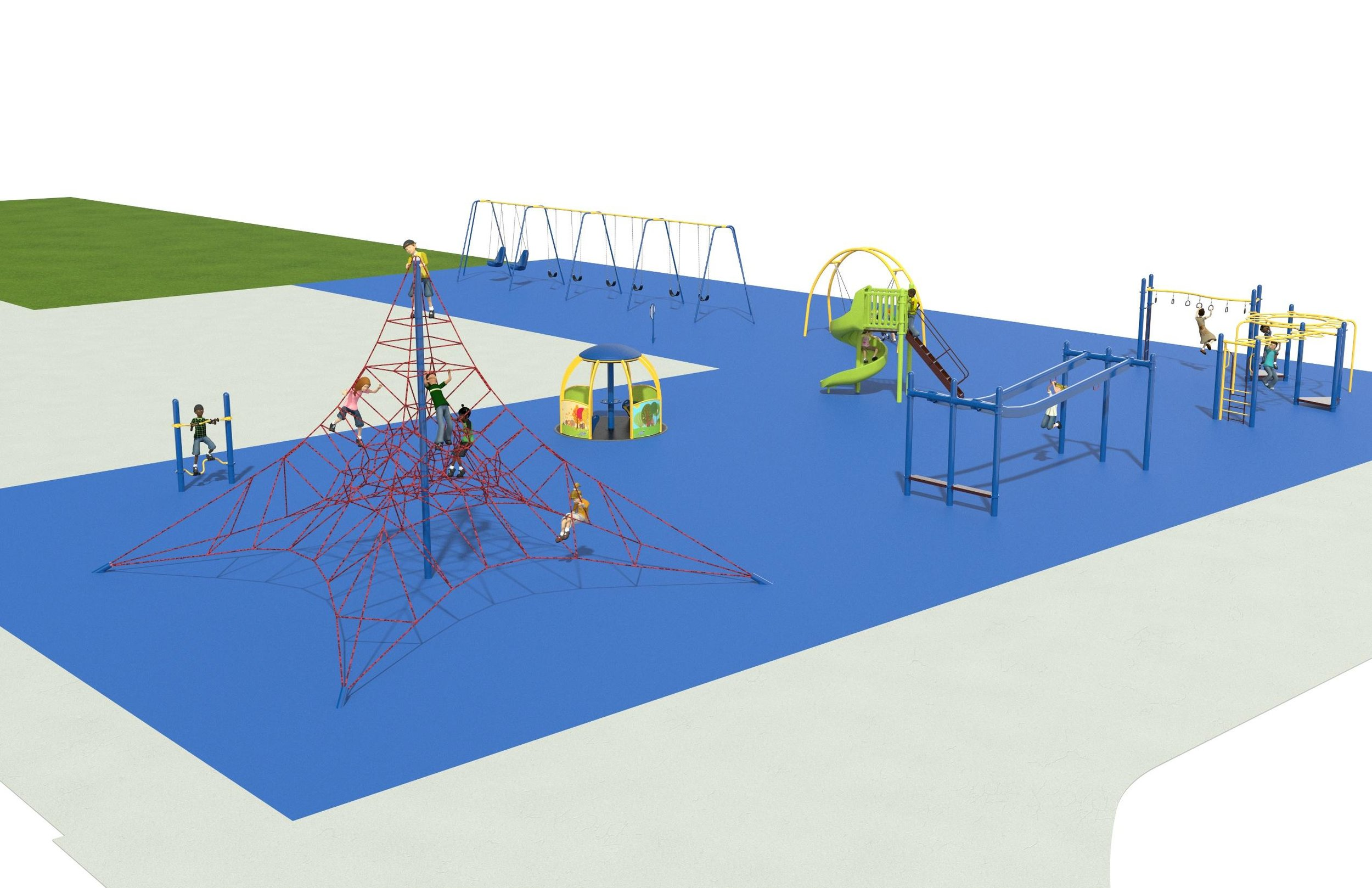 The playground will have a poured-in-place surface that is designed to cushion falls and allow access for students who use wheelchairs or have limited mobility.
